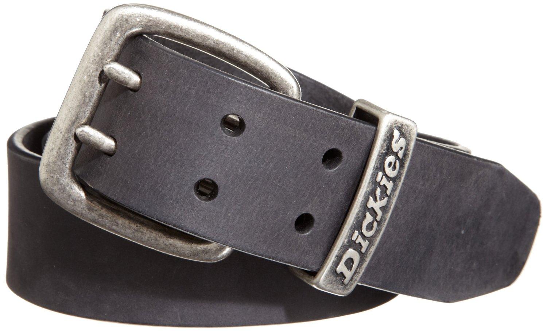 dickies black genuine leather belt w antique nickel