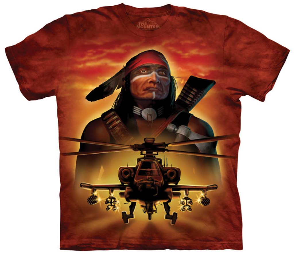 The Mountain Cotton Apache Warrior Design Novelty Adult T-Shirt (Orange) at Sears.com