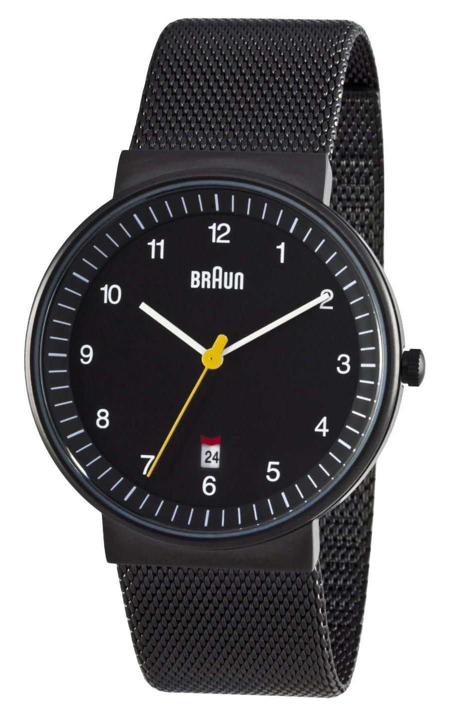Braun Men's Analog Wrist Watch - camkb
