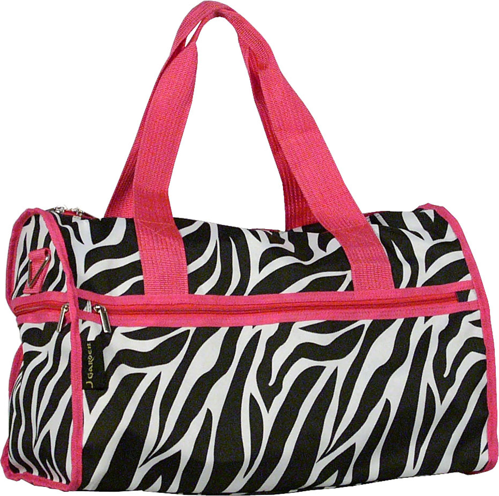 "SilverHooks Zebra Carry On Duffle Bag w/ Hot Pink Trim 19"" Inches at Sears.com"