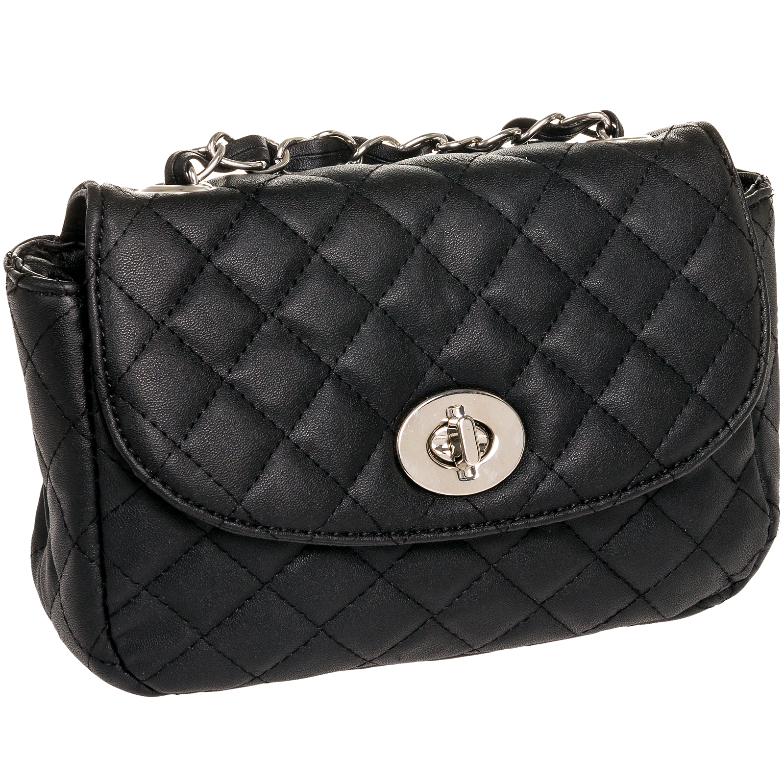Quilted Crossbody Bag With Chain 86
