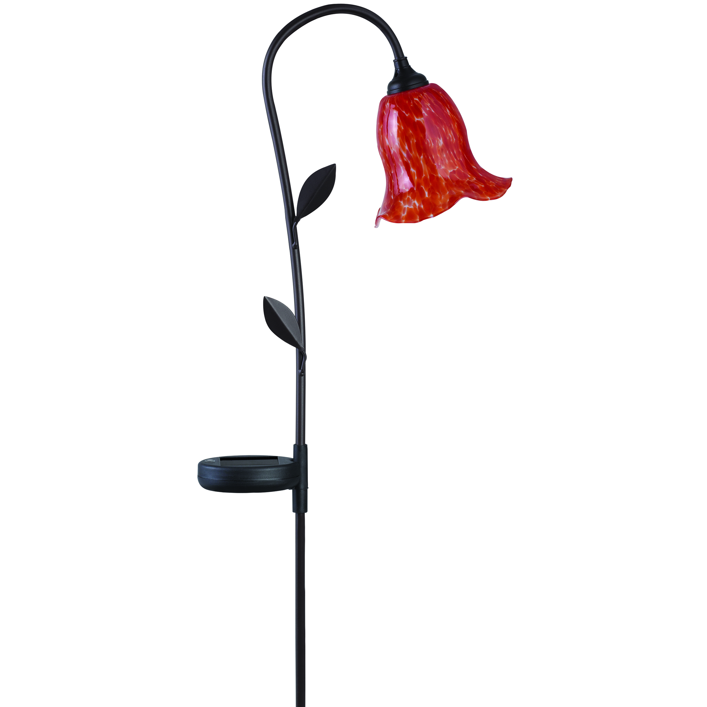 solar red morning outdoor flower garden stake landscape led light