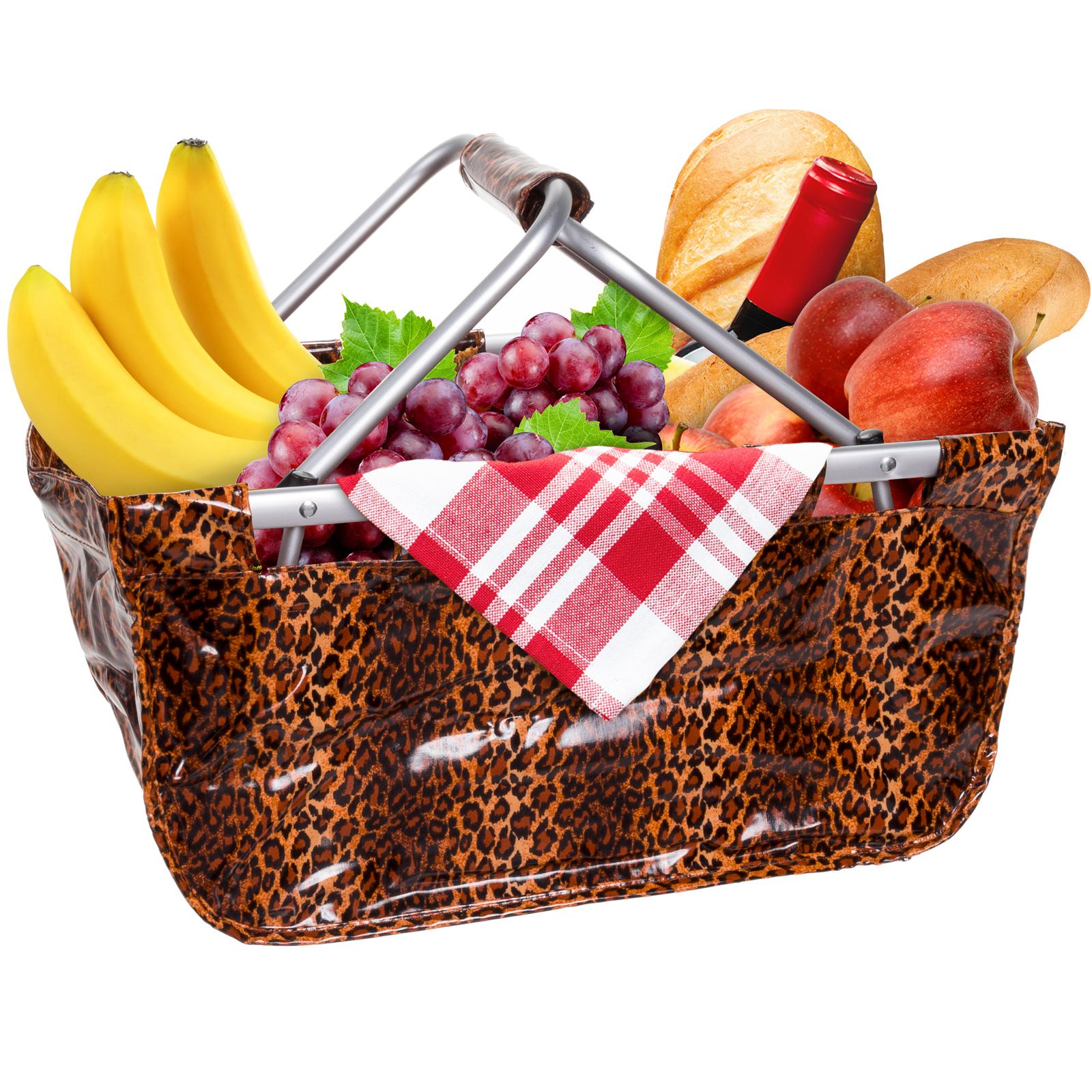 Picnic Basket Food : Print collapsible picnic basket park foldable camping food