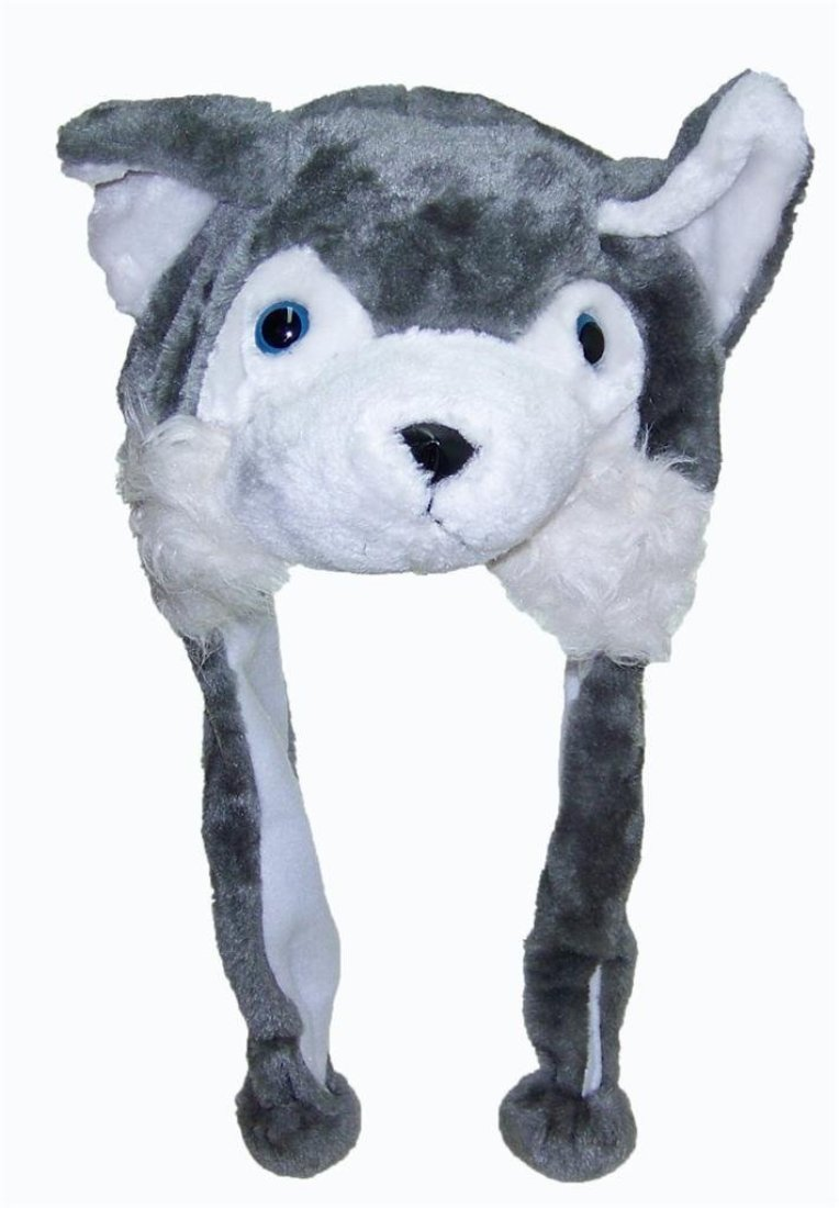 SilverHooks Plush Animal Hat Costume Cap Cute Soft Faux Fur Stuffed Toy Hood (Grey Wolf) at Sears.com