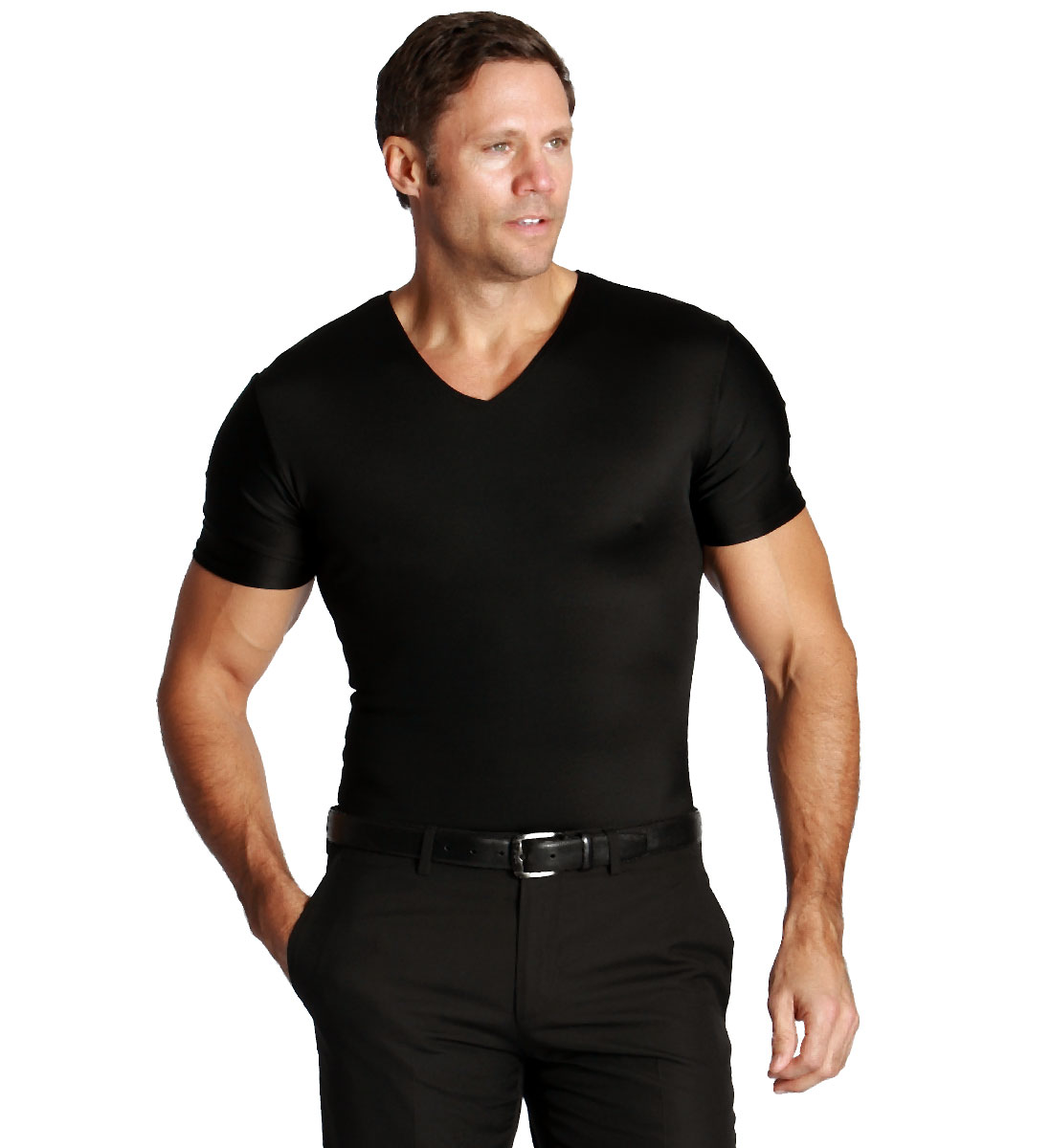 Insta Slim V Neck Men 39 S Firming Compression Tight Under