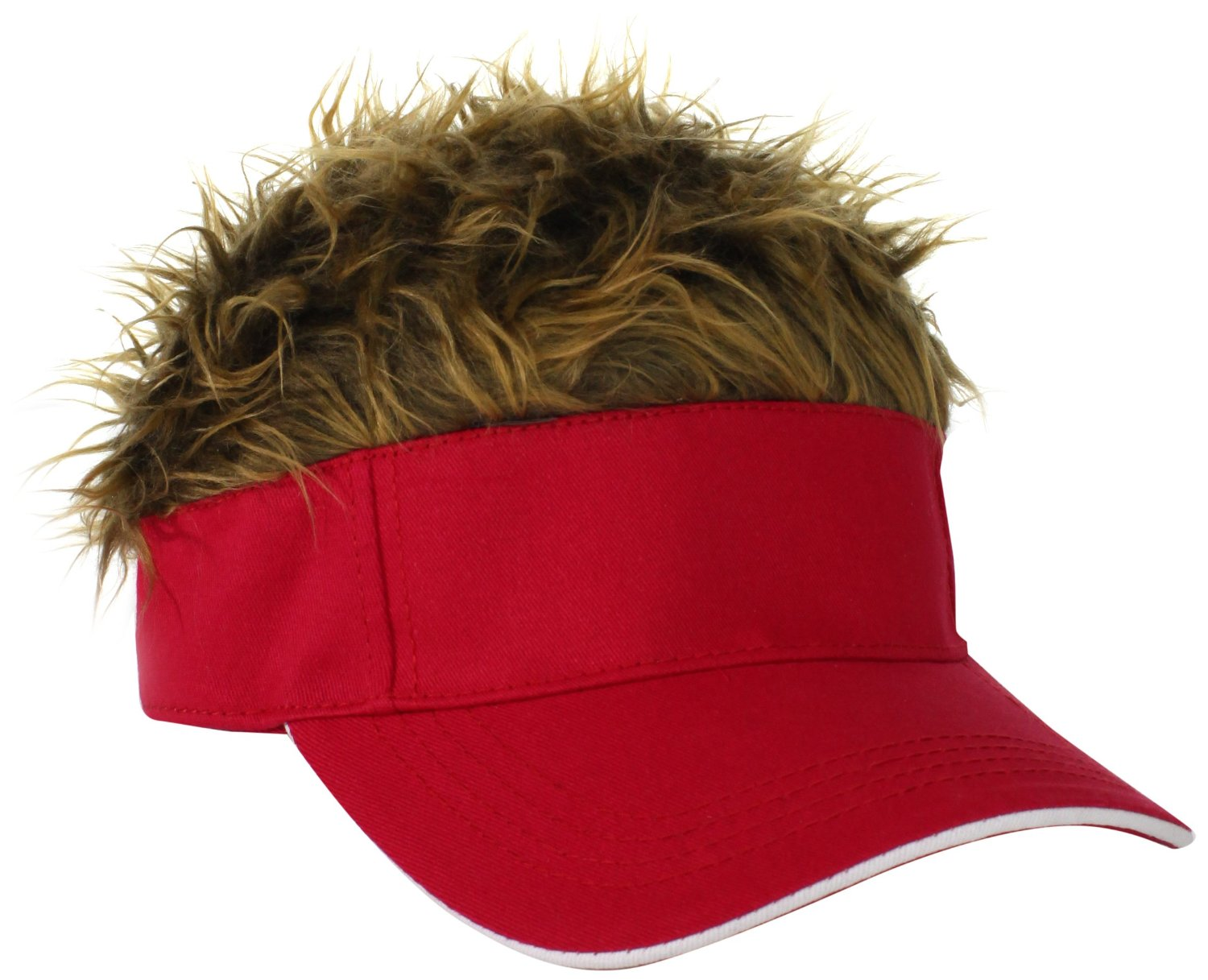 flair hair s velcro w brown hair original visor