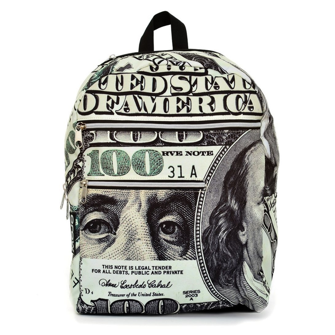 Mojo Youth 600D Polyester All About The Benjamins Backpack Bag (Black) at Sears.com