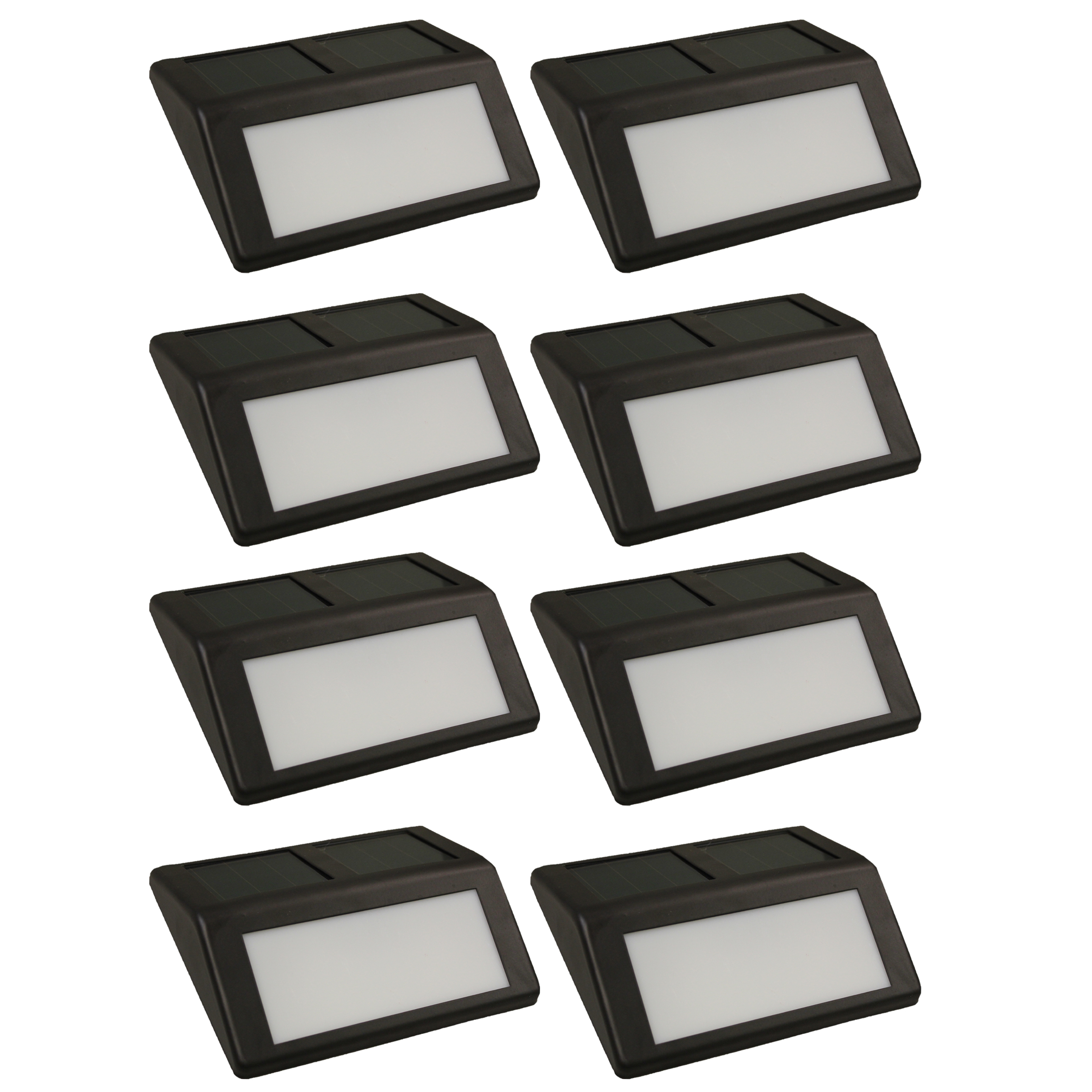 Blue Solar Wall Lights : 8 Pack Large Solar Powered LED Coffee Brown Outdoor Garden Wall Step Path Lights eBay