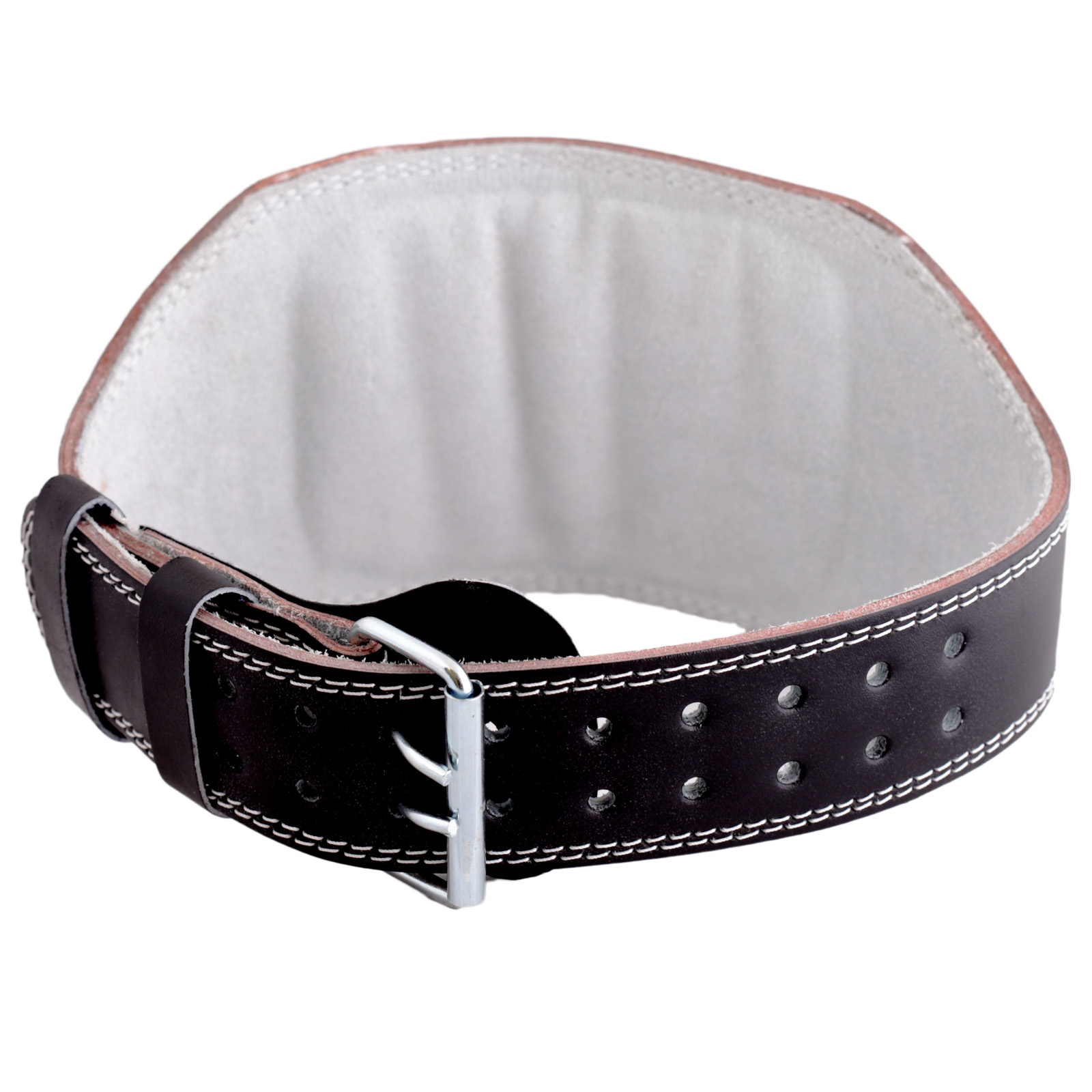valeo small black 6 padded leather weight lifting belt