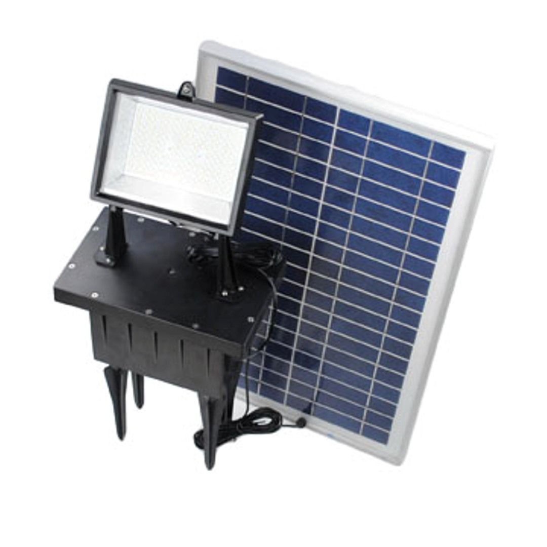 Outdoor Flood Light Solar: 156 LED Outdoor Rechargeable Solar Powered Exterior Ground
