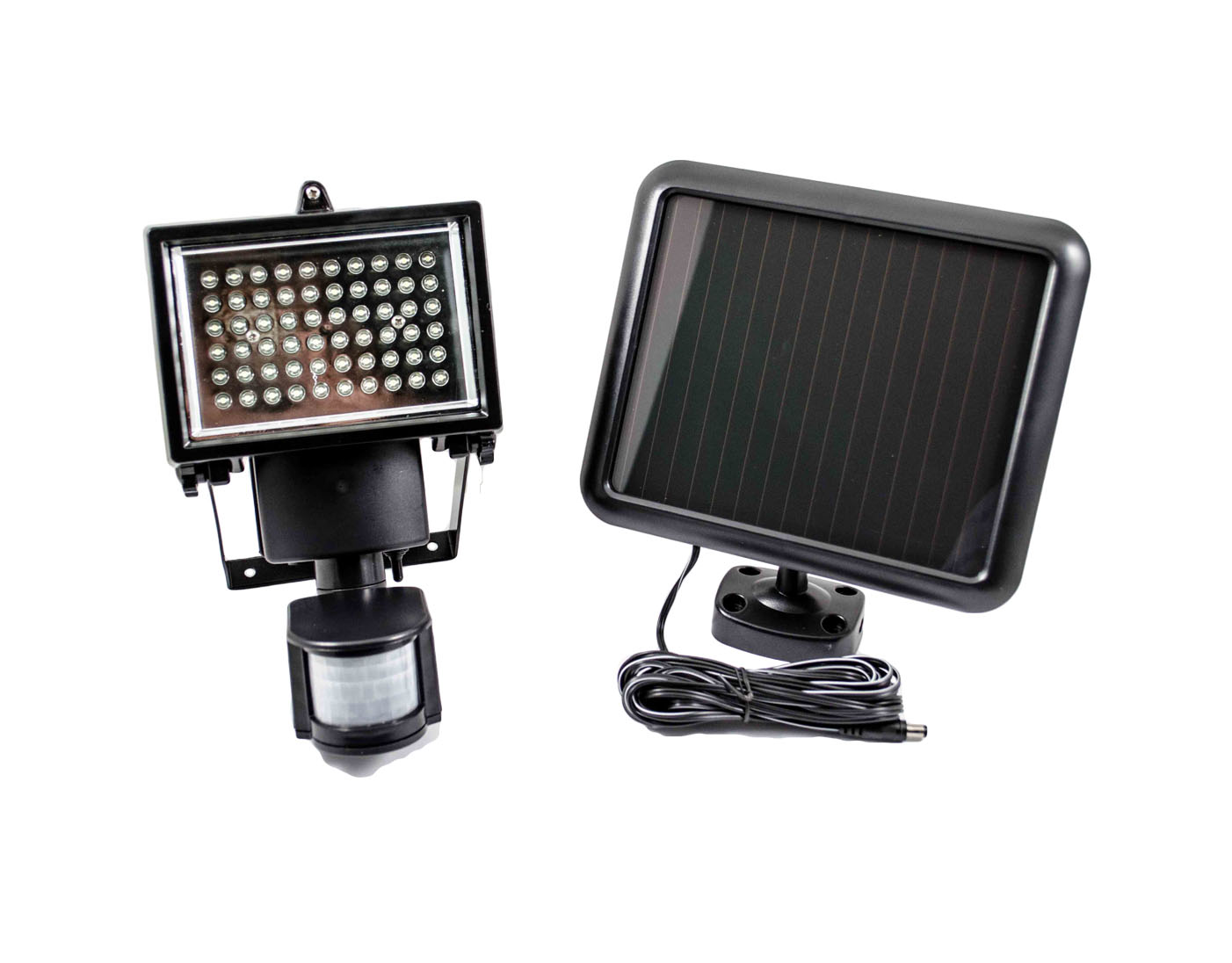 60 led solar powered security motion light detector ebay. Black Bedroom Furniture Sets. Home Design Ideas