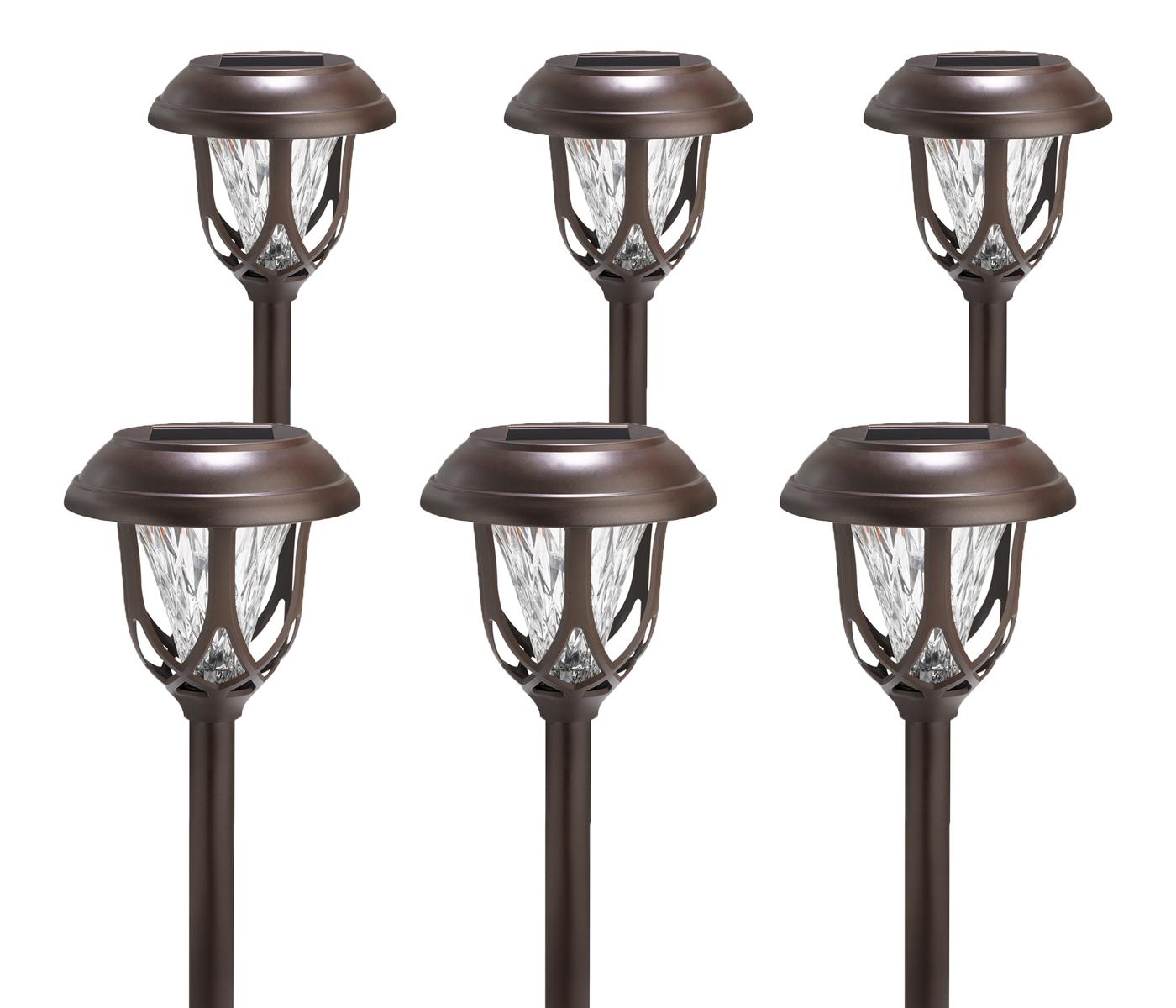 6 pack westinghouse solar powered brown color changing outdoor garden sake light ebay. Black Bedroom Furniture Sets. Home Design Ideas