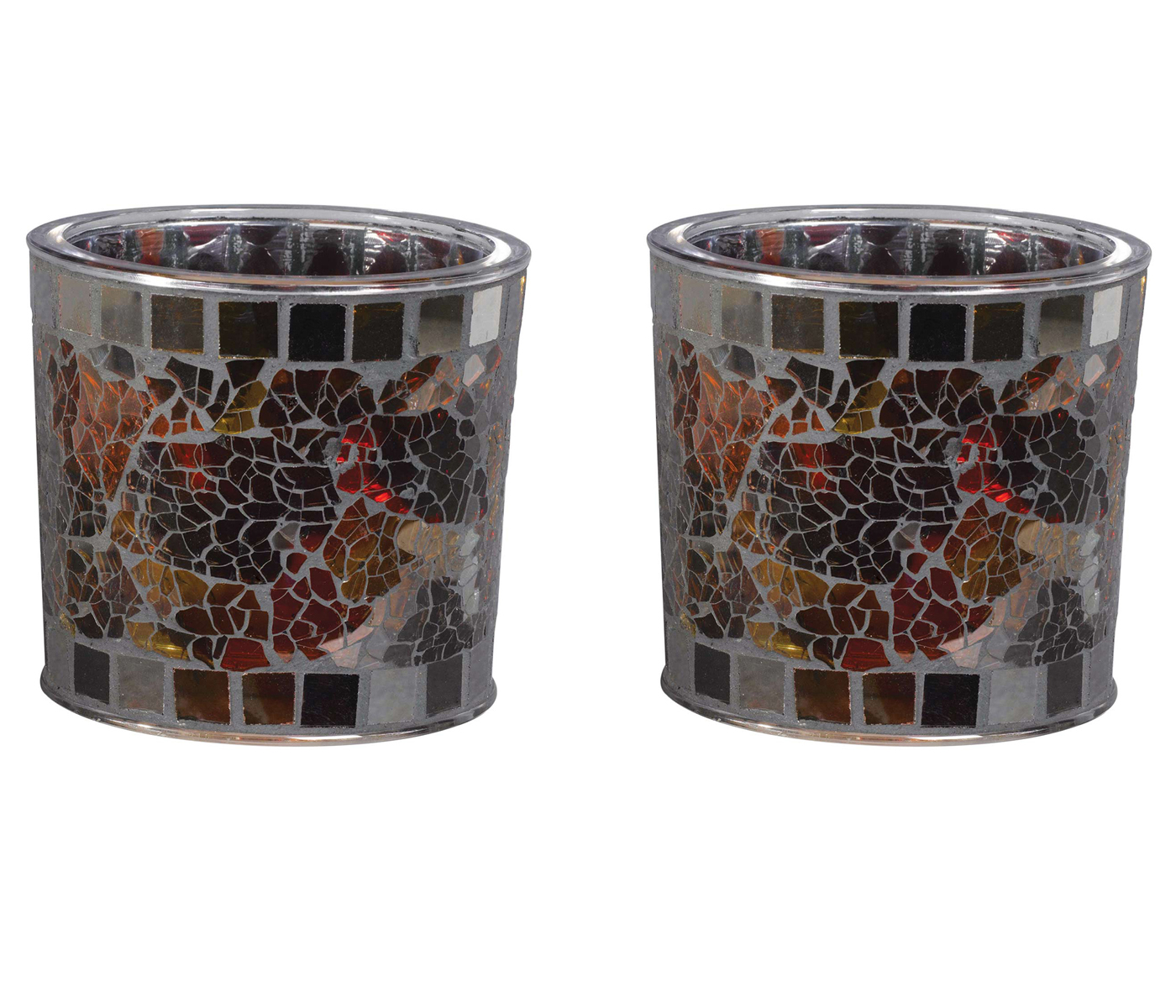 Westinghouse (2 Pack) Westinghouse Solar Powered 3 Amber LED Mosaic Glass Table Top Patio Lights at Sears.com