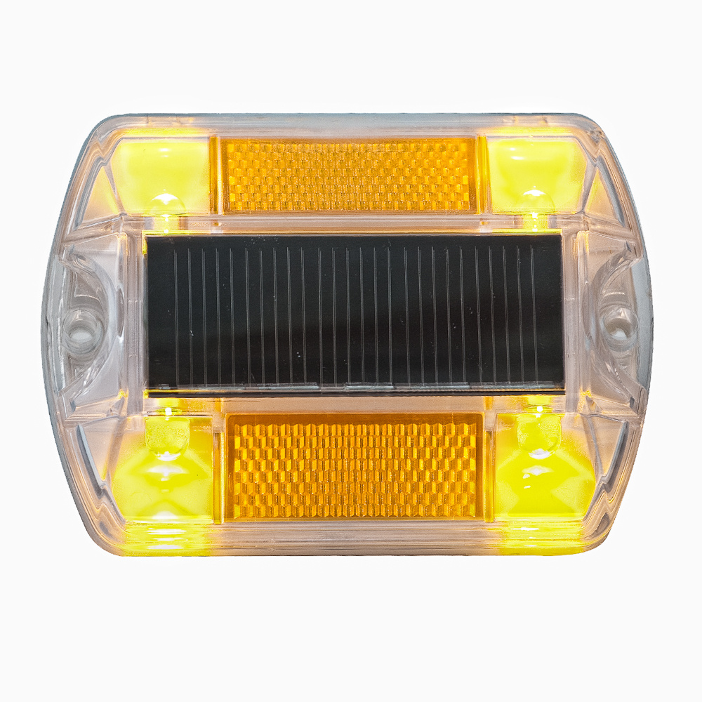 yellow polycarbonate solar powered road path deck dock pool led light. Black Bedroom Furniture Sets. Home Design Ideas