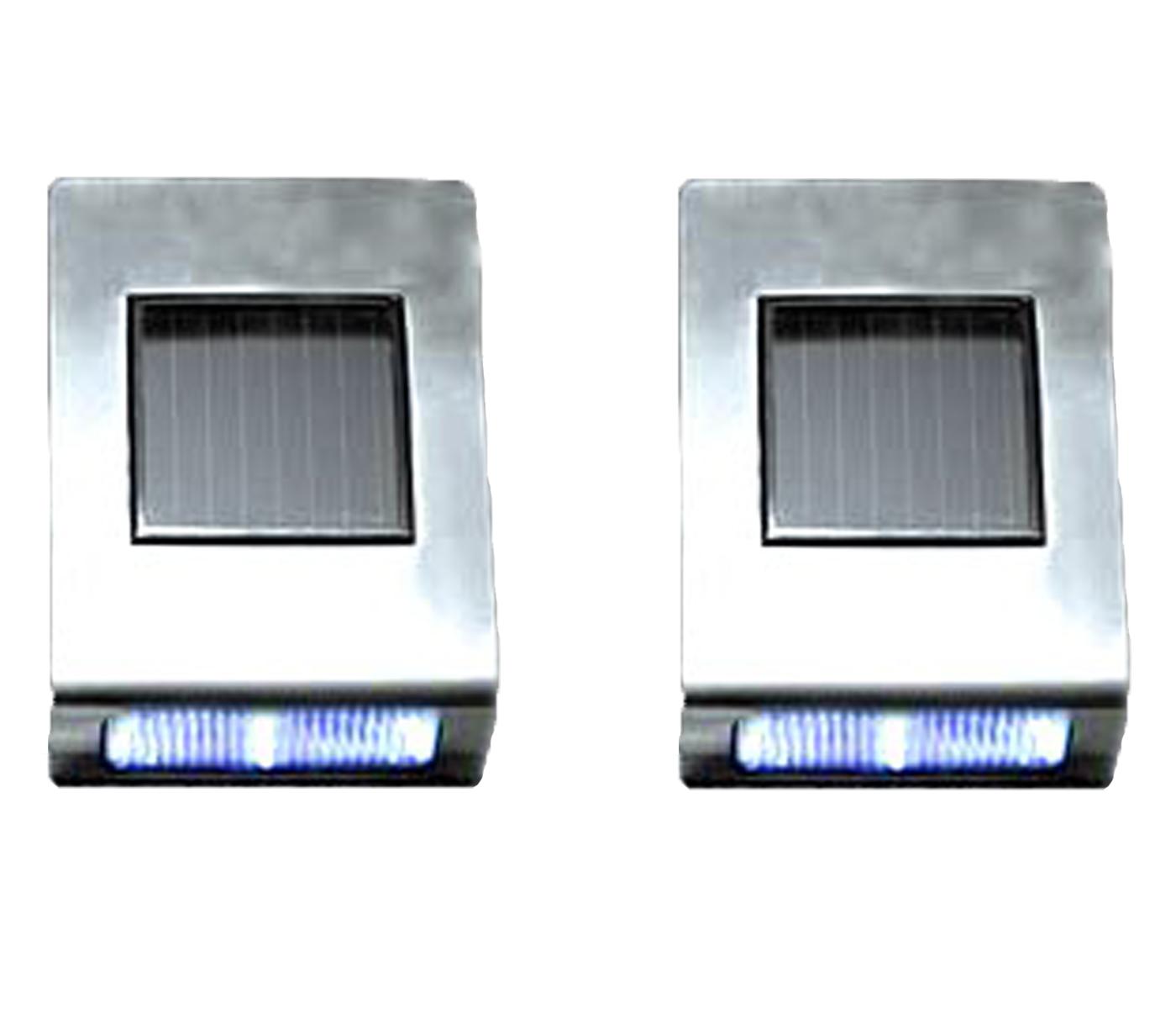 4 Pack Solar Wall Mount Stainless Steel Deck Lawn Garden Walkway Landscape Light eBay
