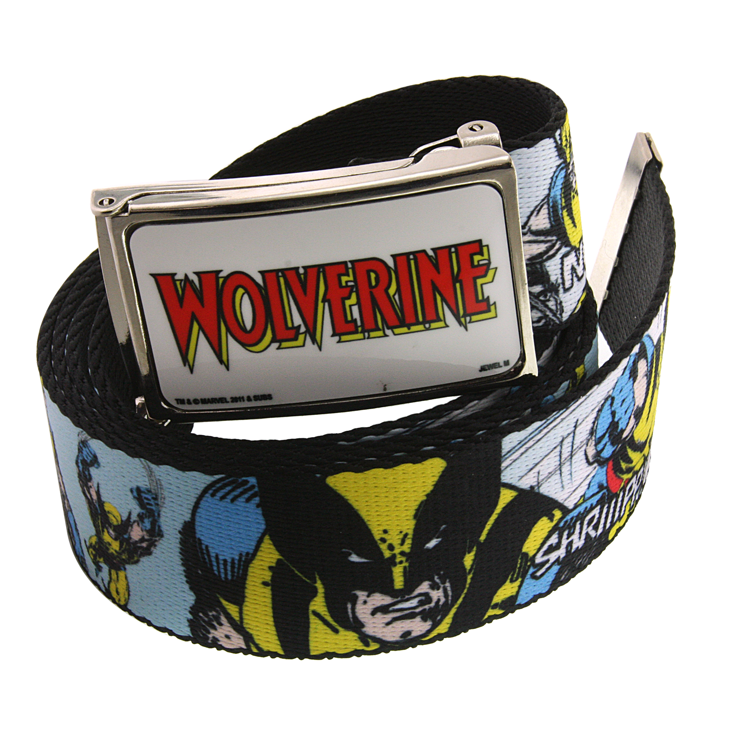 Marvel 1928 Marvel Men's Wolverine Comic Strip Graphic Web Belt (Multicolored) at Sears.com