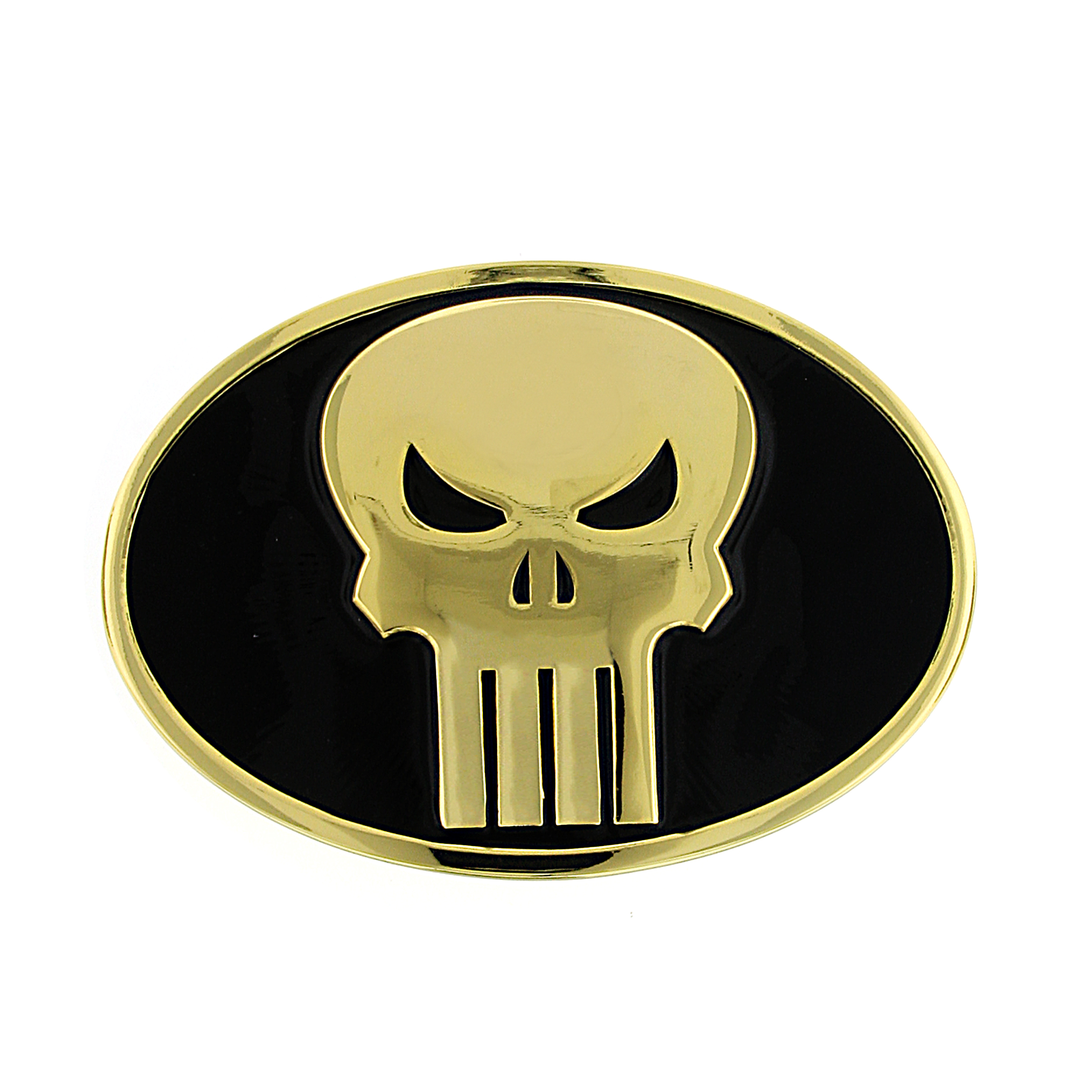 Marvel 1928 Marvel Men's Punisher Round Belt Buckle (Black/Gold) at Sears.com