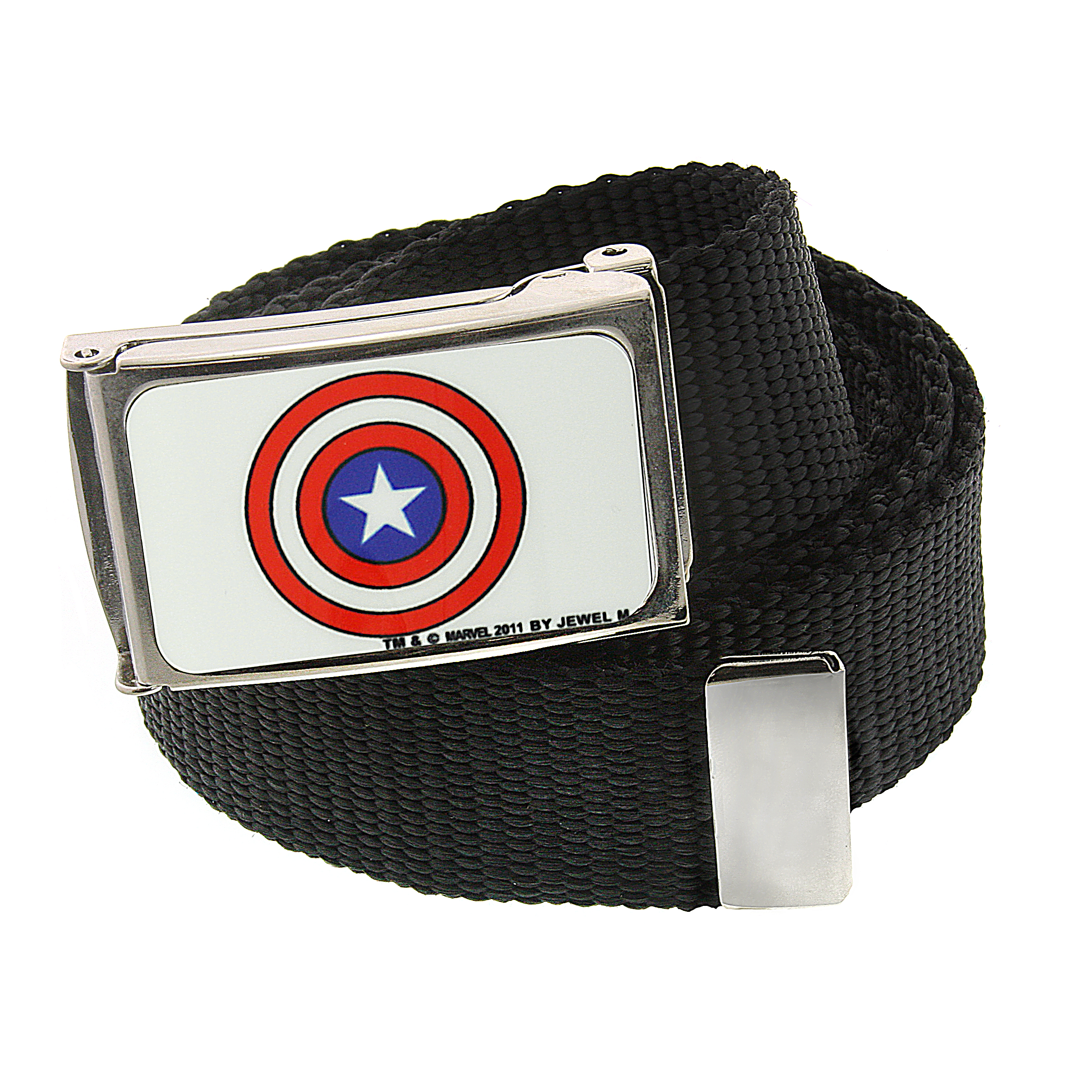 Marvel 1928 Marvel Men's Captain America Shield Web Belt (Red/White/Blue) at Sears.com