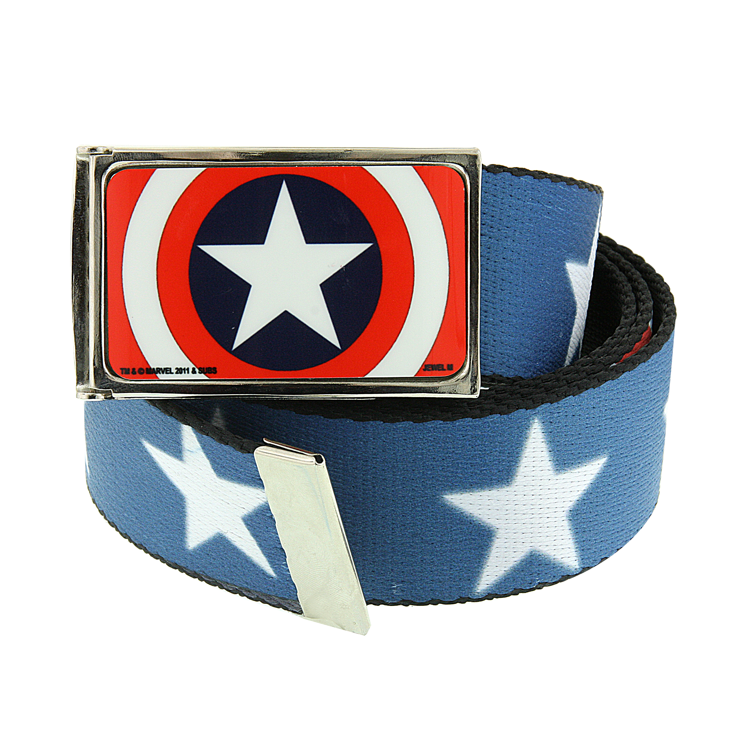 Marvel 1928 Marvel Men's Captain America Star Shield Web Belt (Red/Blue) at Sears.com