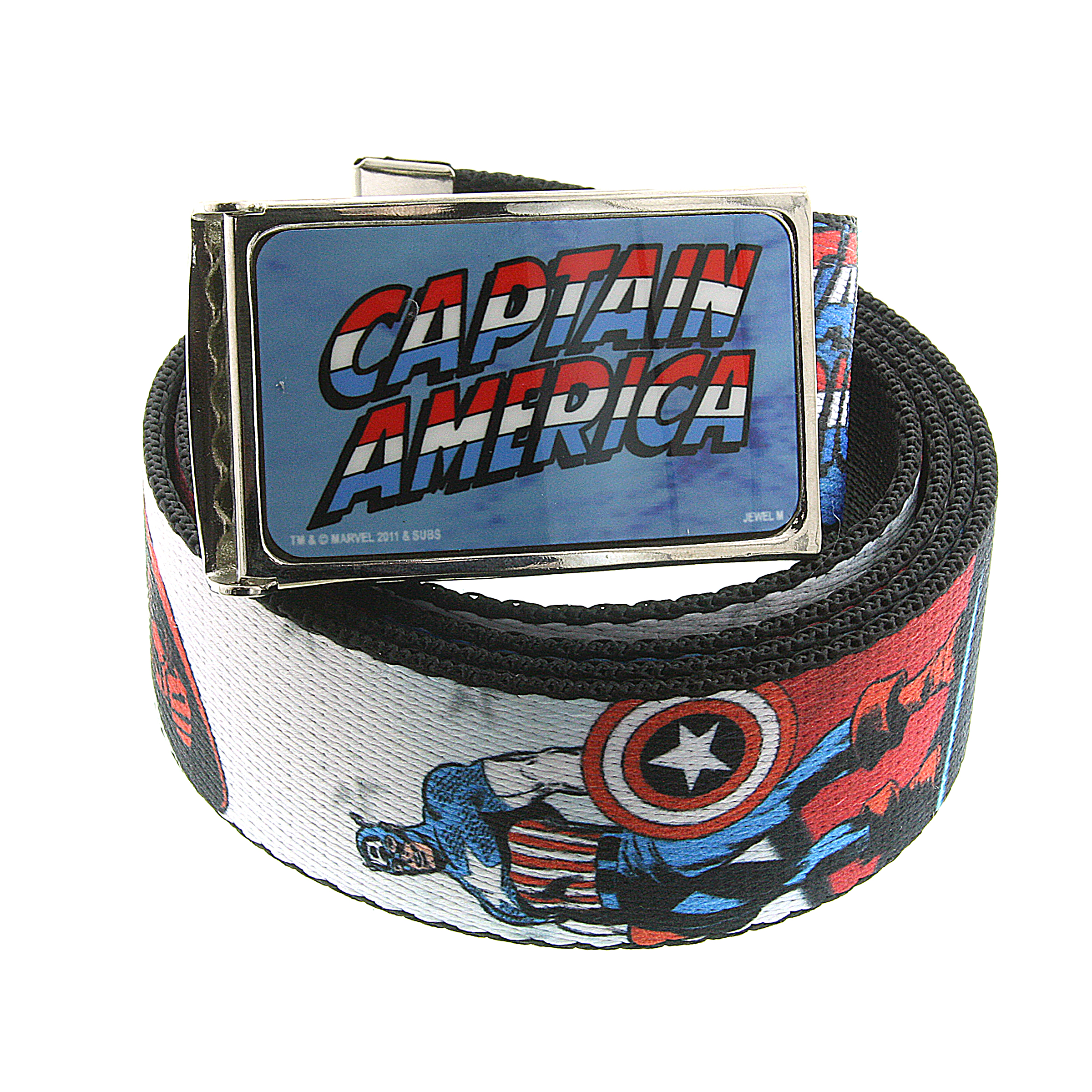 Marvel 1928 Marvel Men's Captain America Written Logo Graphic Web Belt at Sears.com