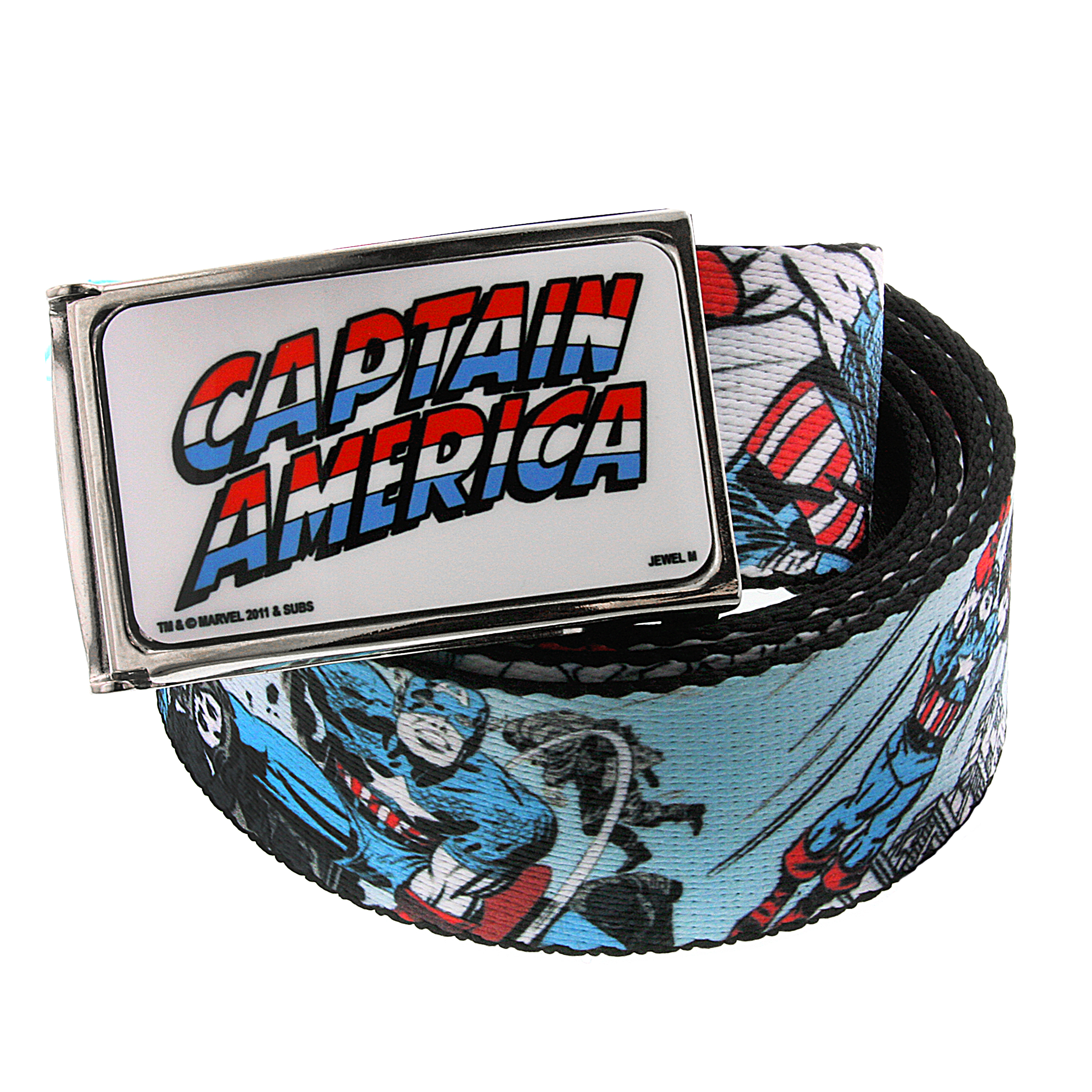 Marvel 1928 Marvel Men's Captain America Action Graphic Web Belt (Blue) at Sears.com
