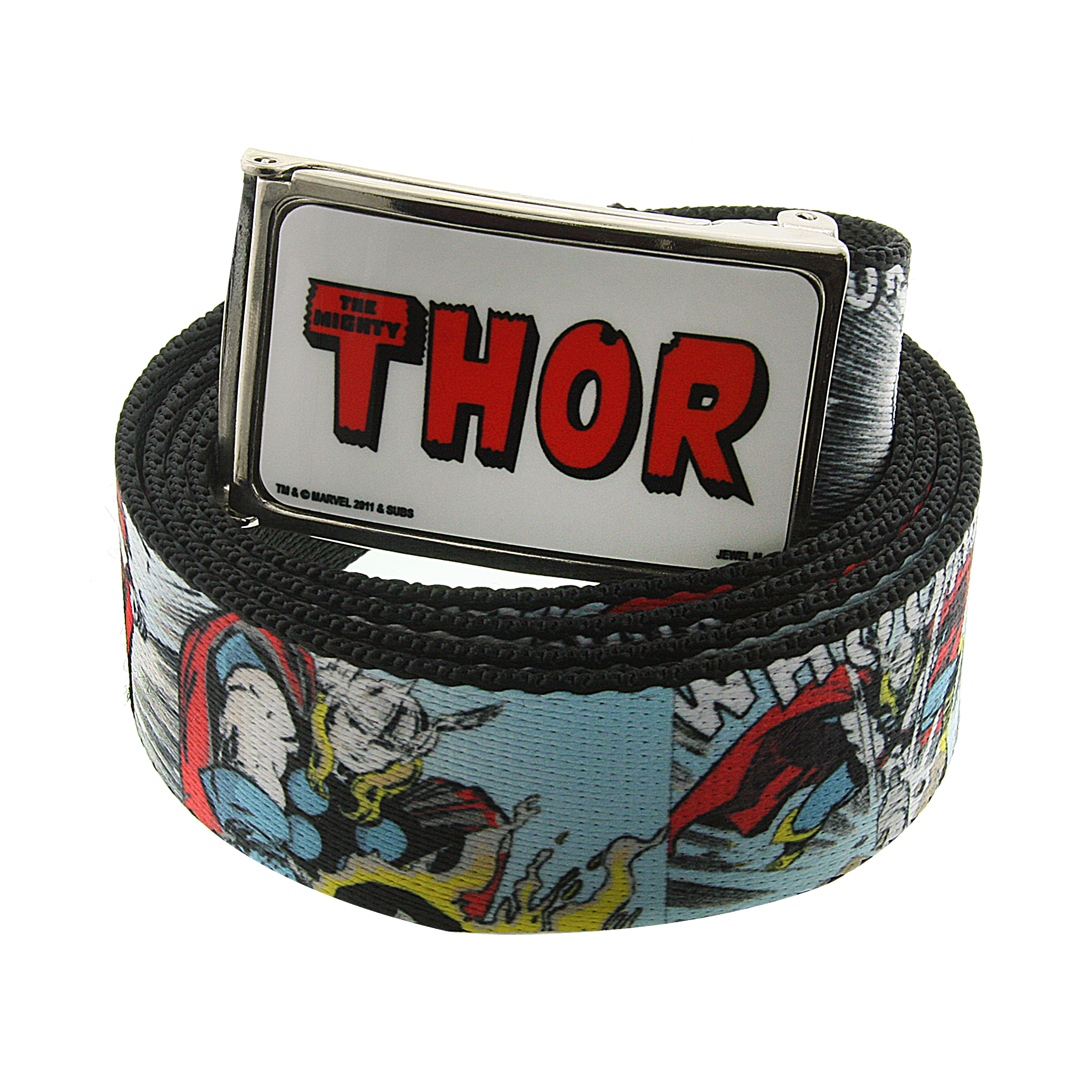 Marvel 1928 Marvel Men's Thor Comic Strip Web Belt (Multicolored) at Sears.com
