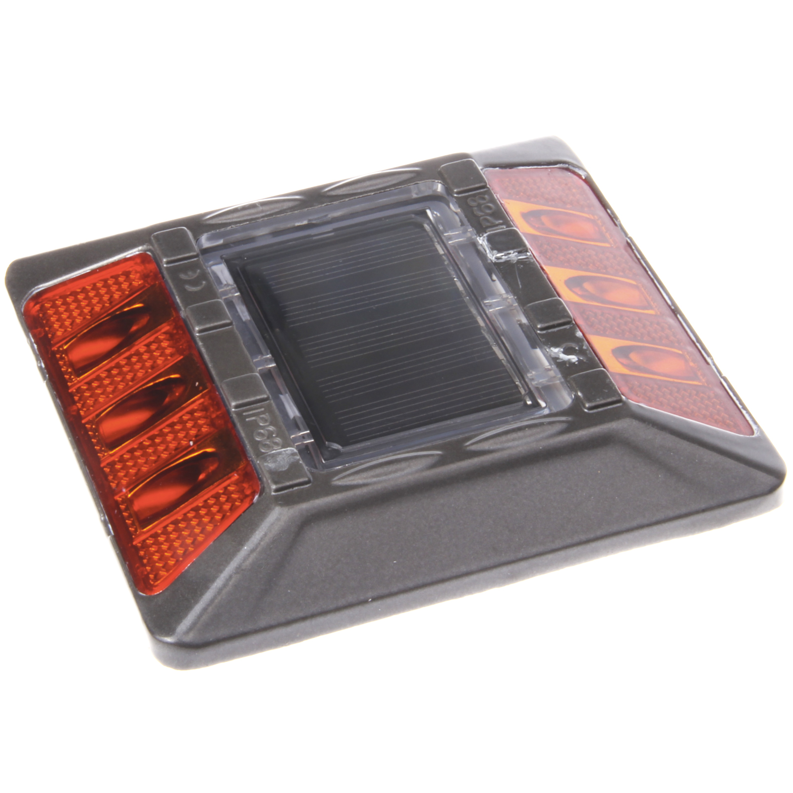 Reusable Revolution Amber Commercial Aluminum Solar Road Stud Deck Dock Light with Recessed Anchor at Sears.com