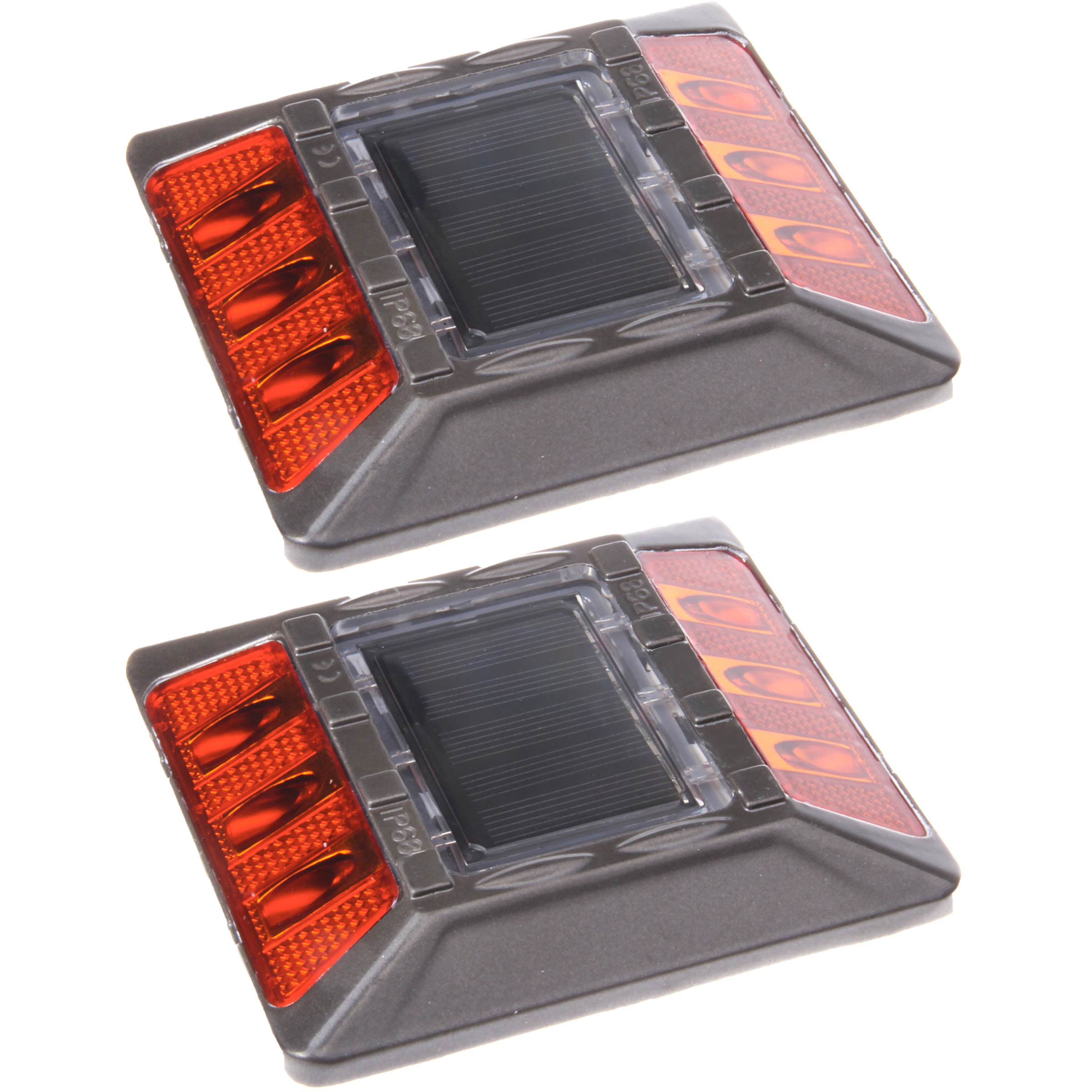 Reusable Revolution (2 Pack) Amber Commercial Solar Road Stud Deck Dock Light with Recessed Anchor at Sears.com