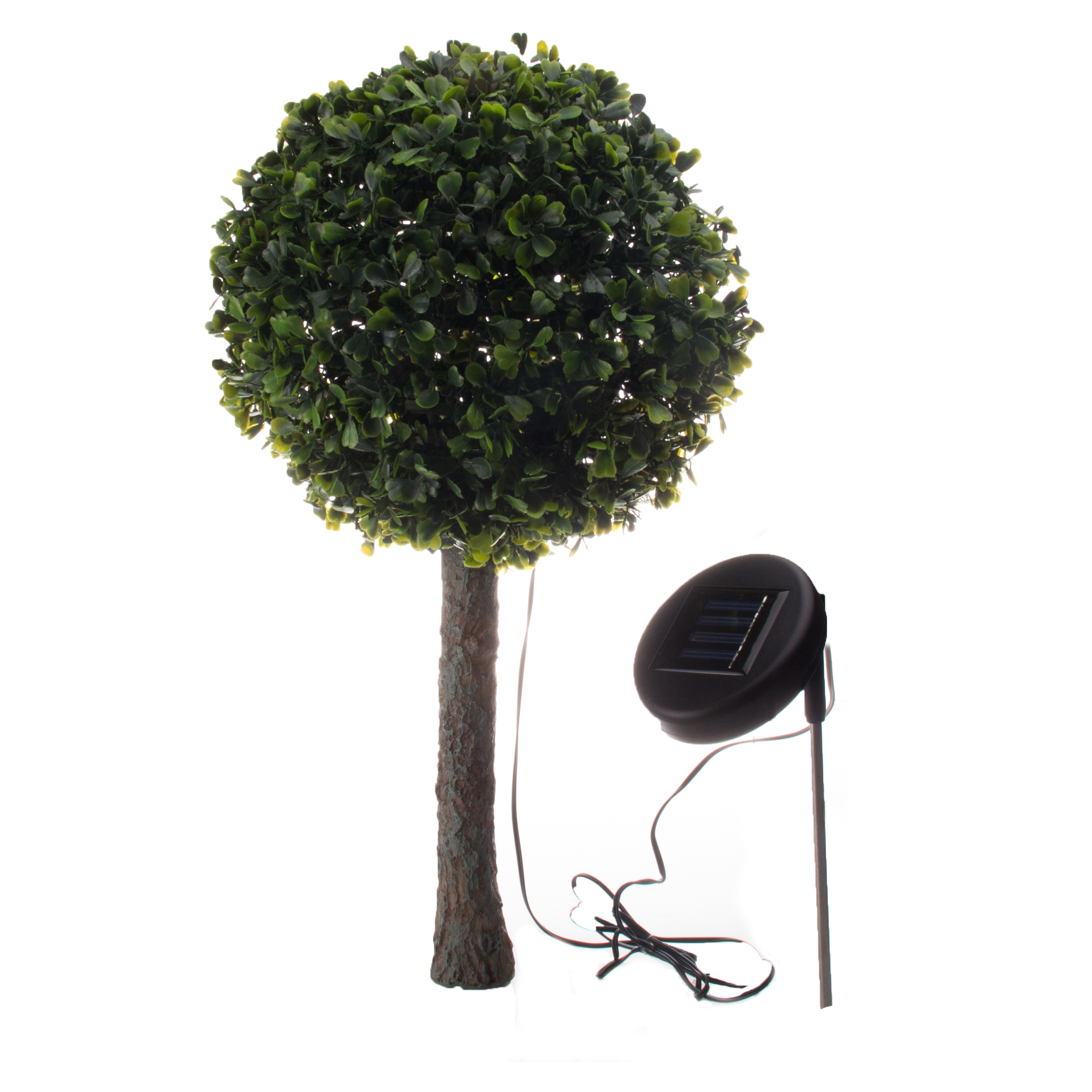Solar Outdoor Garden 10 LED Topiary Decorative Tree Accent Light Lamp EBay