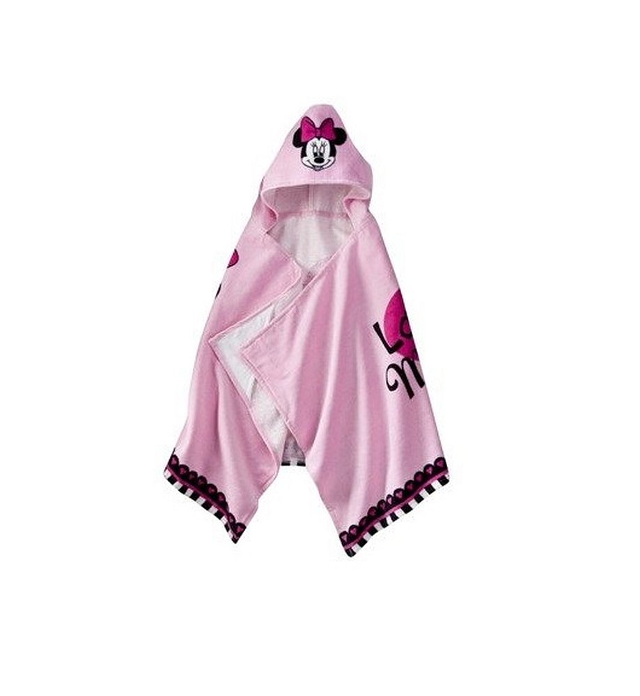 Disney Girl's Terry Cloth Minnie Mouse Hooded Bath Towel (Pink) at Sears.com