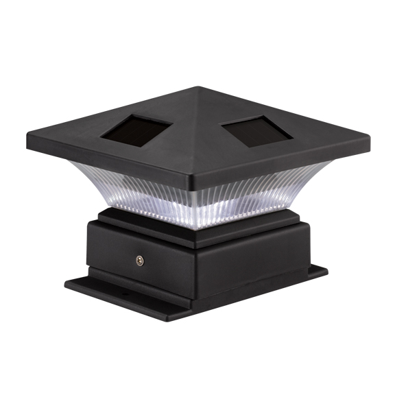 black solar 4x4 post cap outdoor garden landscape led light ebay. Black Bedroom Furniture Sets. Home Design Ideas