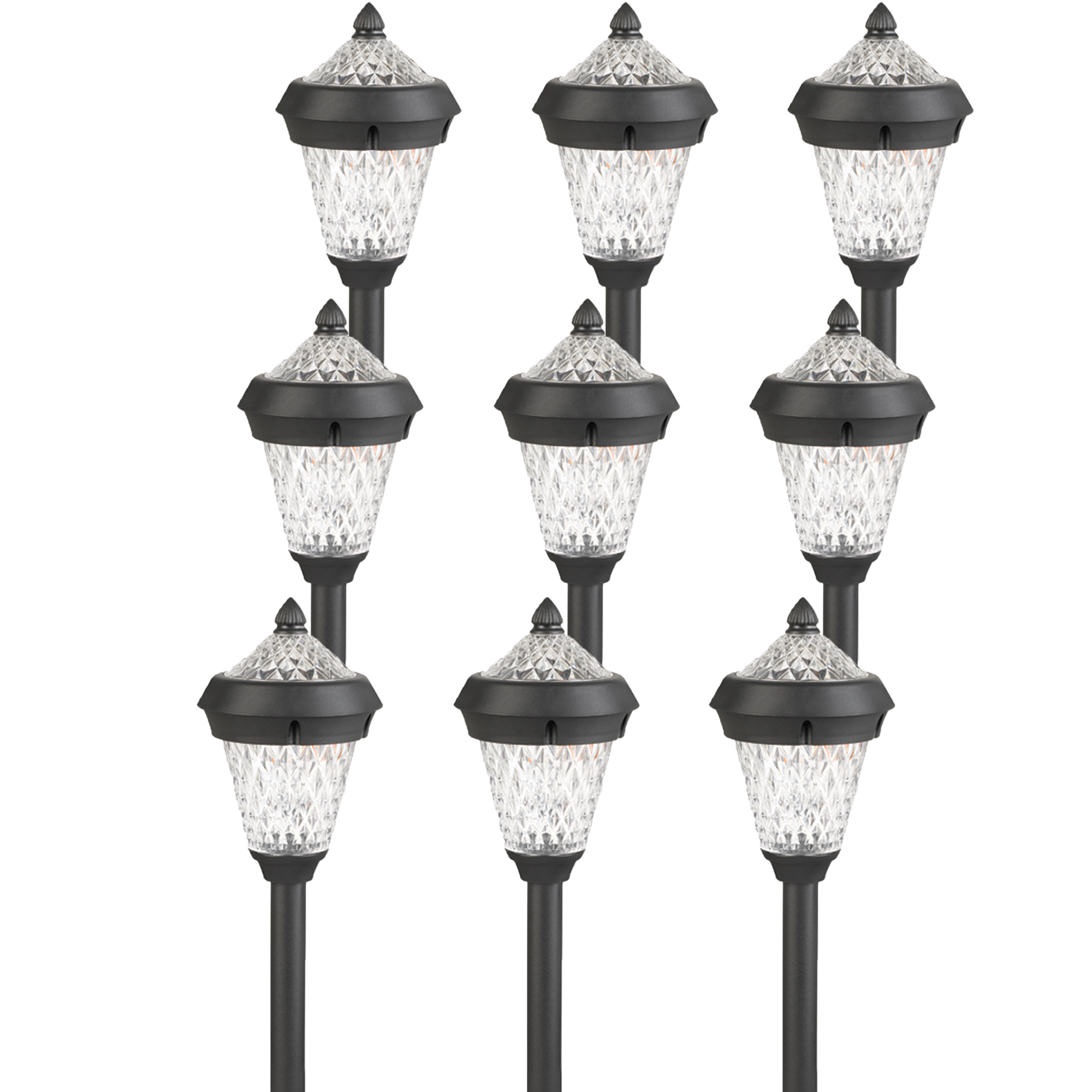 atlanta black solar outdoor garden stake pathway led light ebay