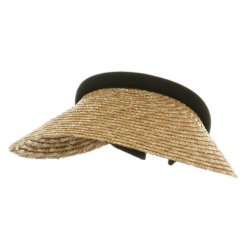 MG Ladies Sewn Braid Wheat Straw Clip-On Visor (Natural) at Sears.com