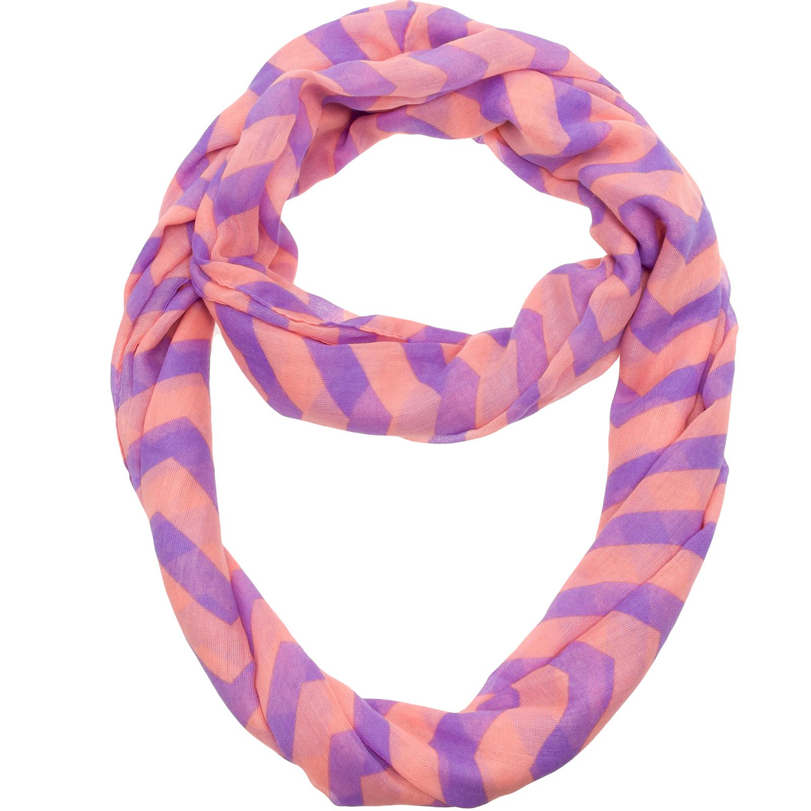 NEW Womens Chevron Infinity Loop Circle Knit Neck Fashion ...