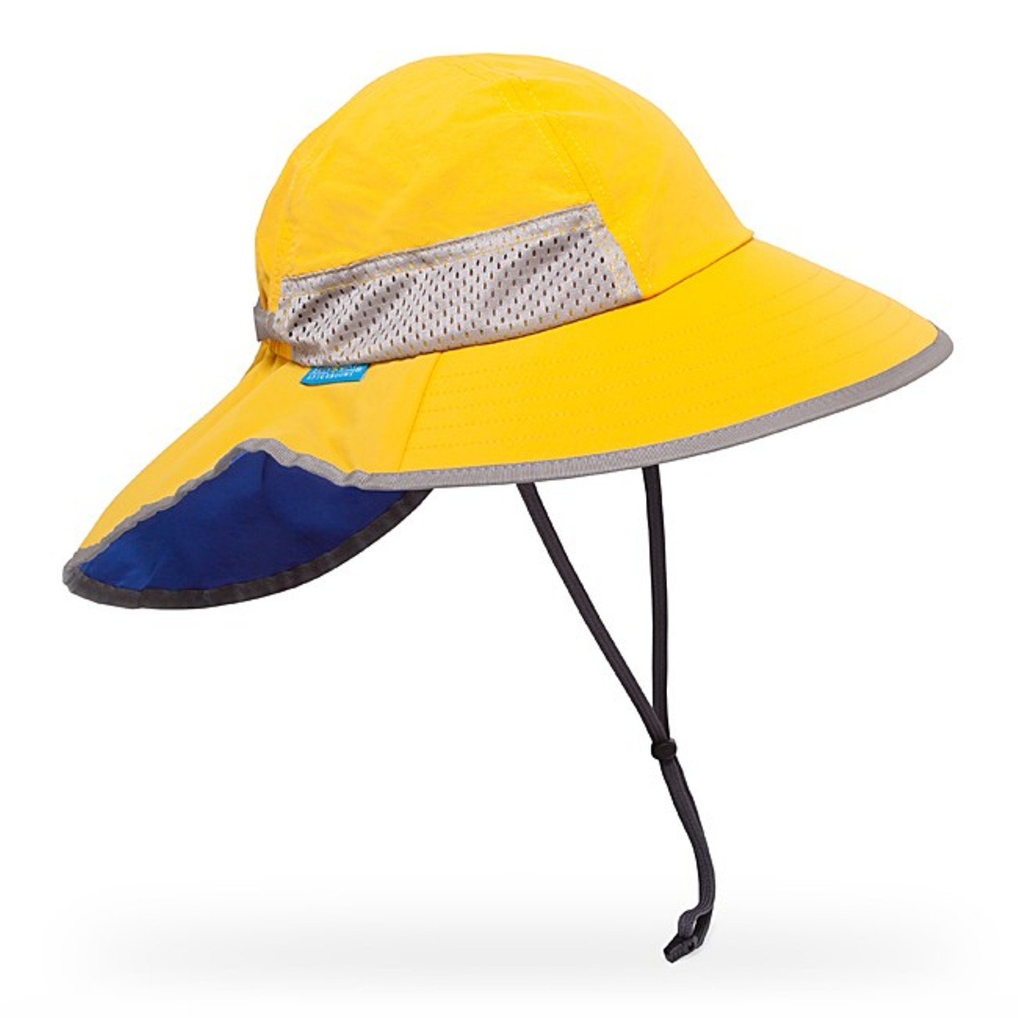 Floppy fun brim, cool colors and savvy sun protection all in one hat! Quick release chin strap with sliding lock holds our Chin Strap Hat in place. It's constructed from lightweight breathable cotton, so he'll stay cool under the sun.o every fiber.