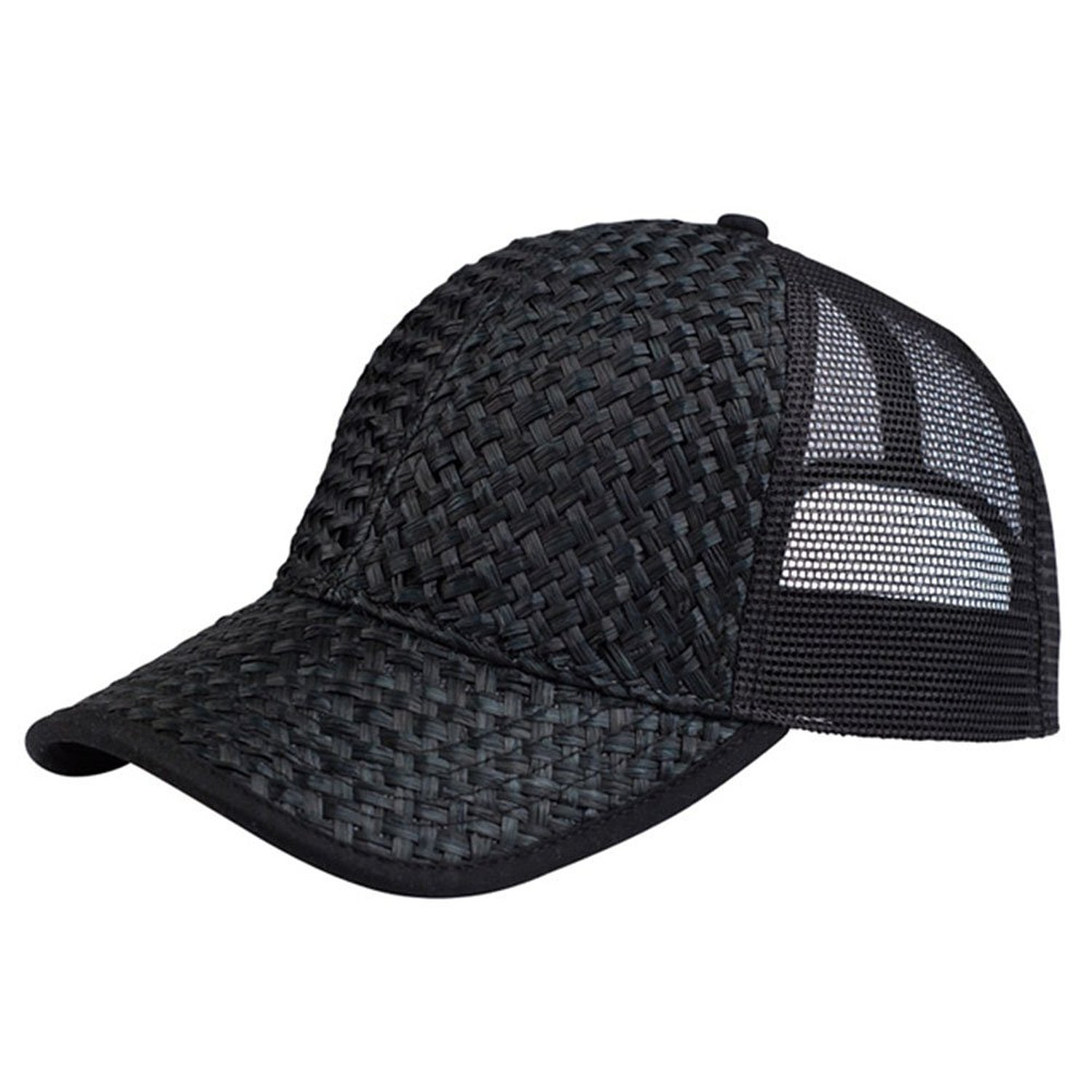 mg s straw weave trucker snapback cap one size