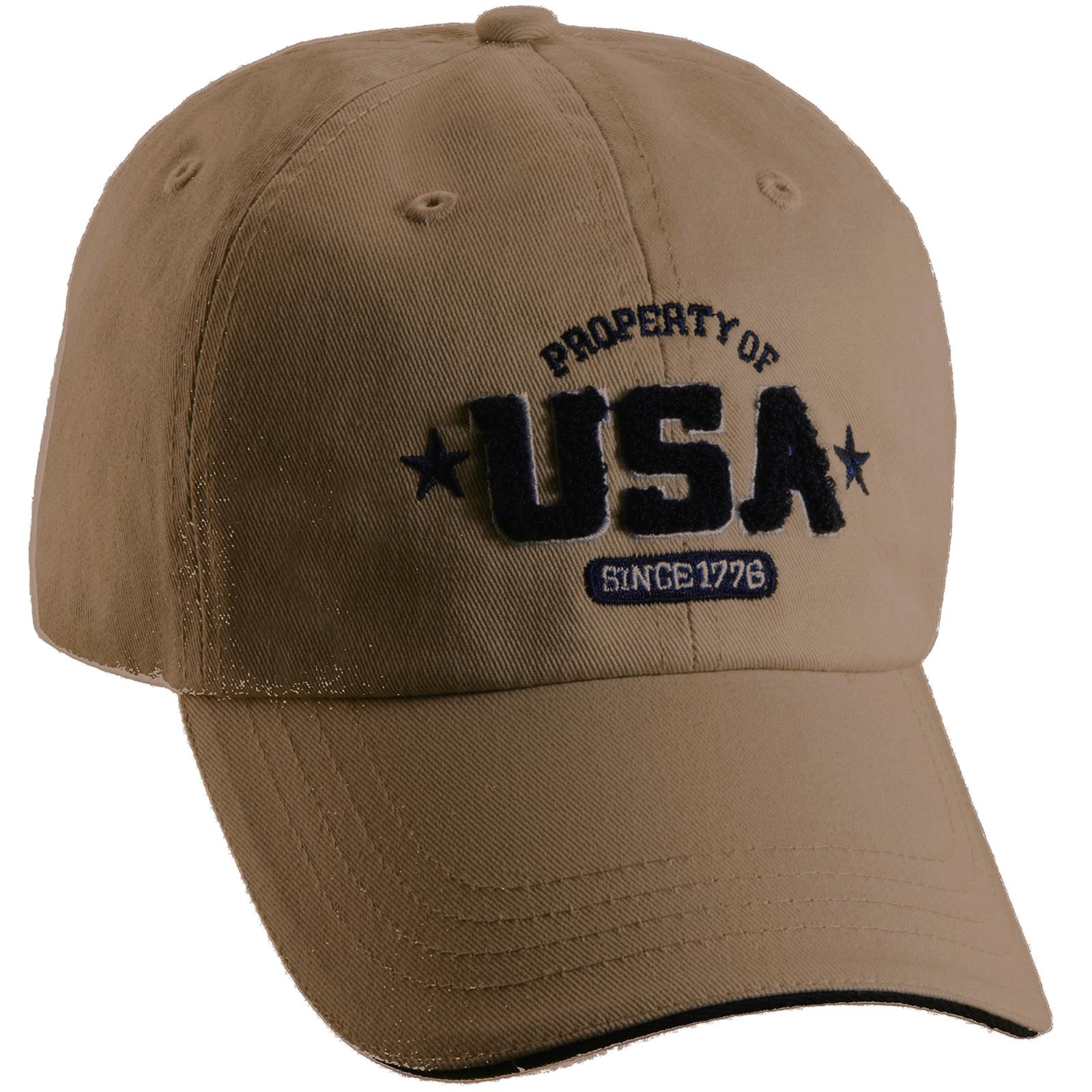 dorfman pacific property of usa since 1776 cotton cap