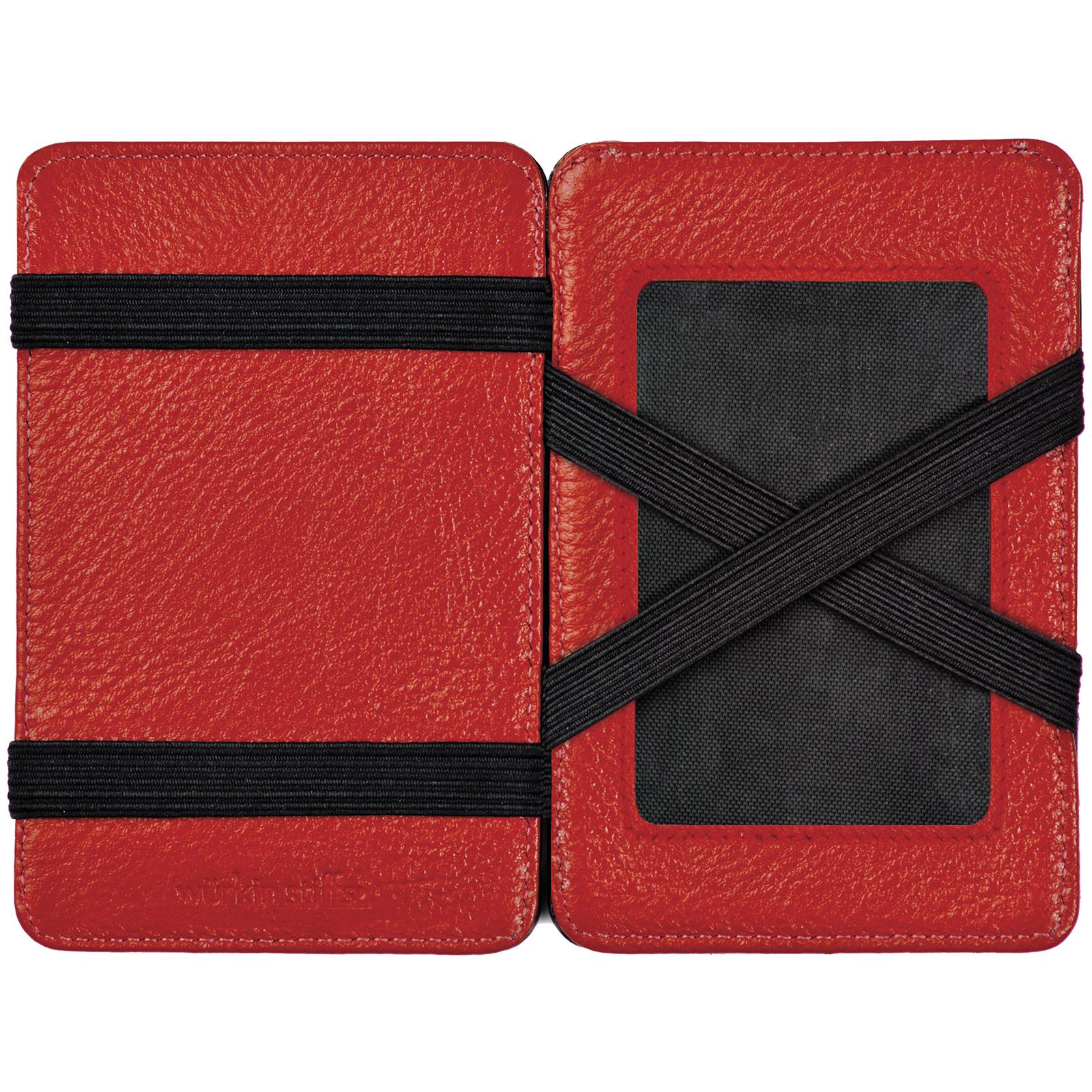 Wurkin Stiffs Mens Black W Red Interior Leather 5 Pocket Magic Rfid Wallet New Ebay