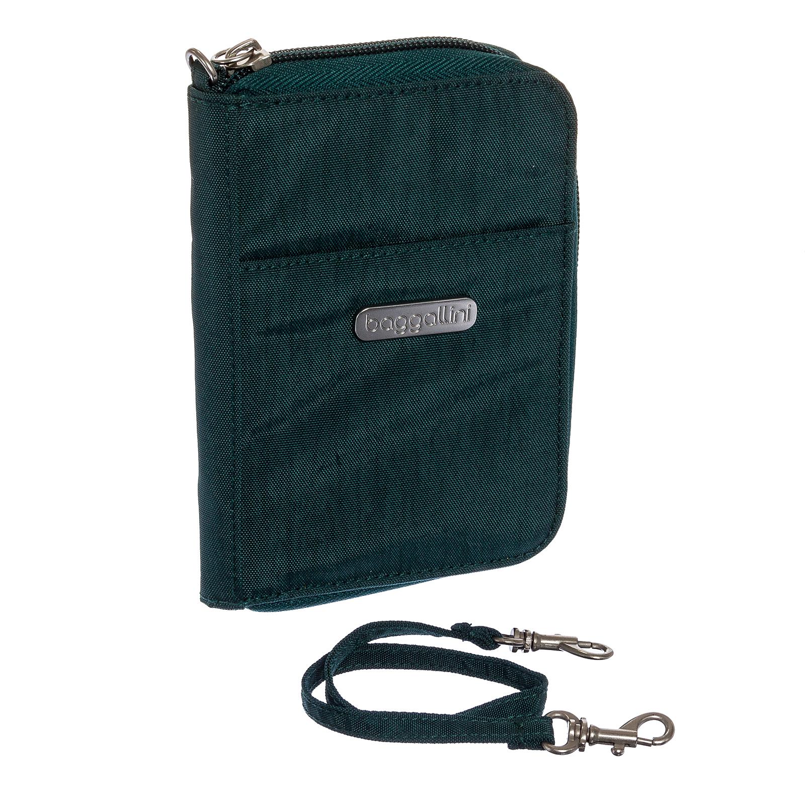 Baggallini Baggallini Womens Nylon Essential Zip Around Wristlet Wallet (Forest)