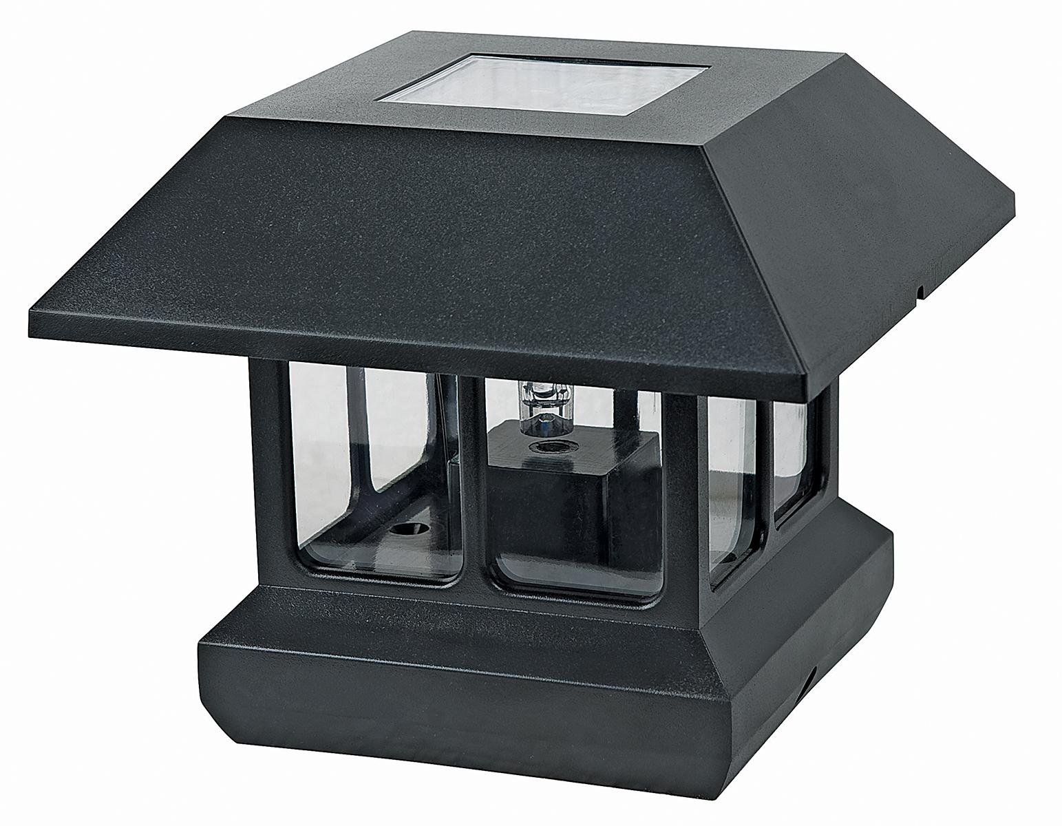 Paradise Solar Outdoor Garden 2 In 1 LED Post Cap Pathway Light Black EBay