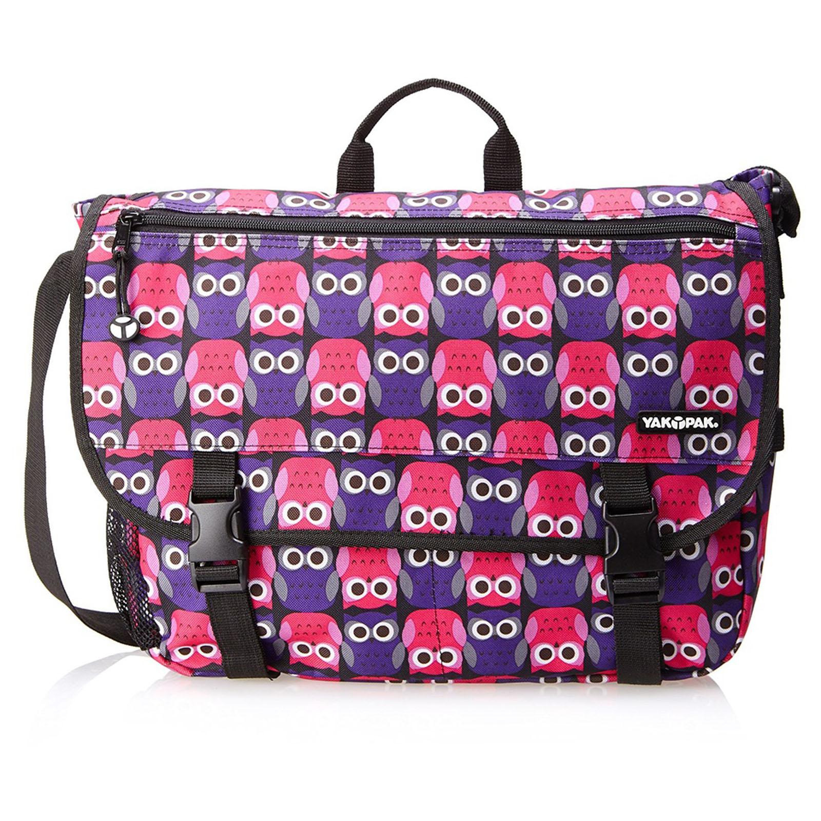 ... Girls Purple Owl Love Messenger Laptop Tablet School Book Bag NEW