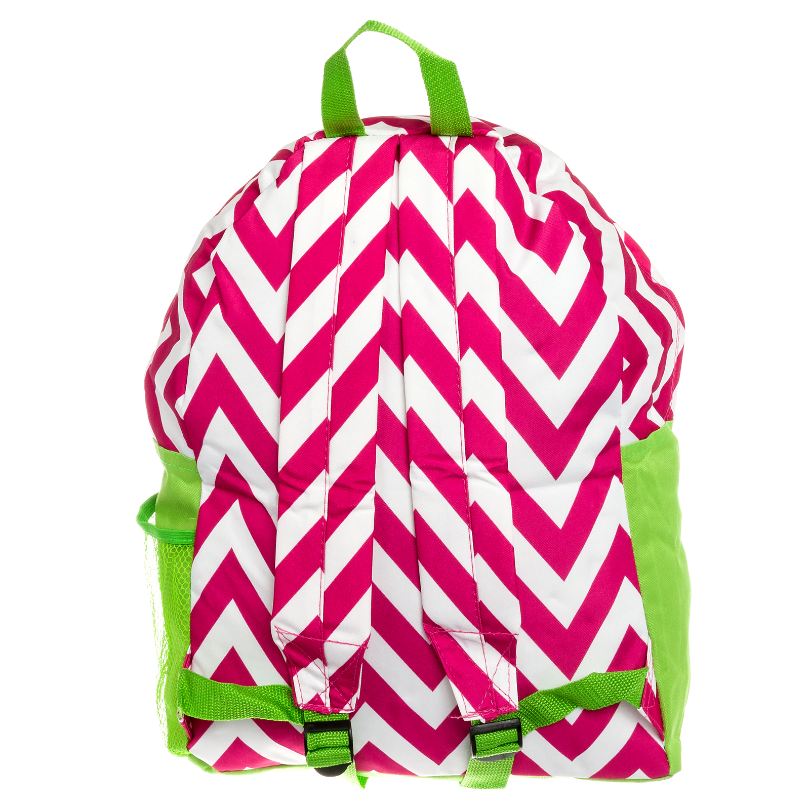 ... Womens Chevron Print Nylon Backpack School Gym Travel Zig Zag Book Bag