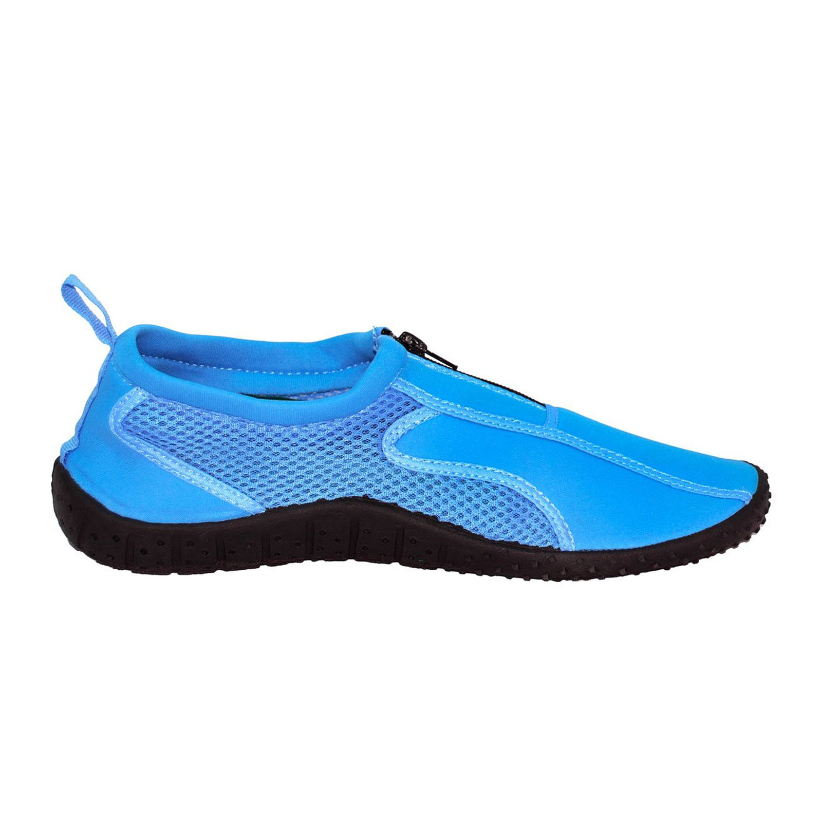 rockin footwear mens rubber aqua neon zippered swim water