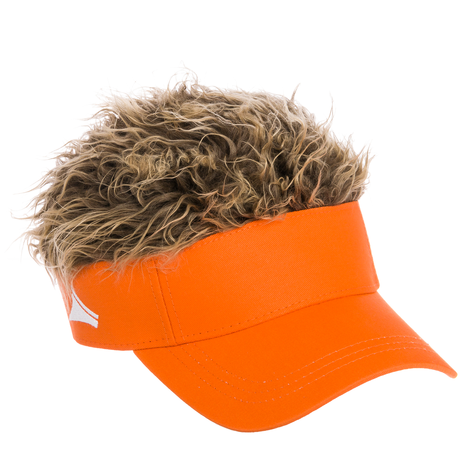 flair hair s boy s velcro visor hat cap w hair wig new