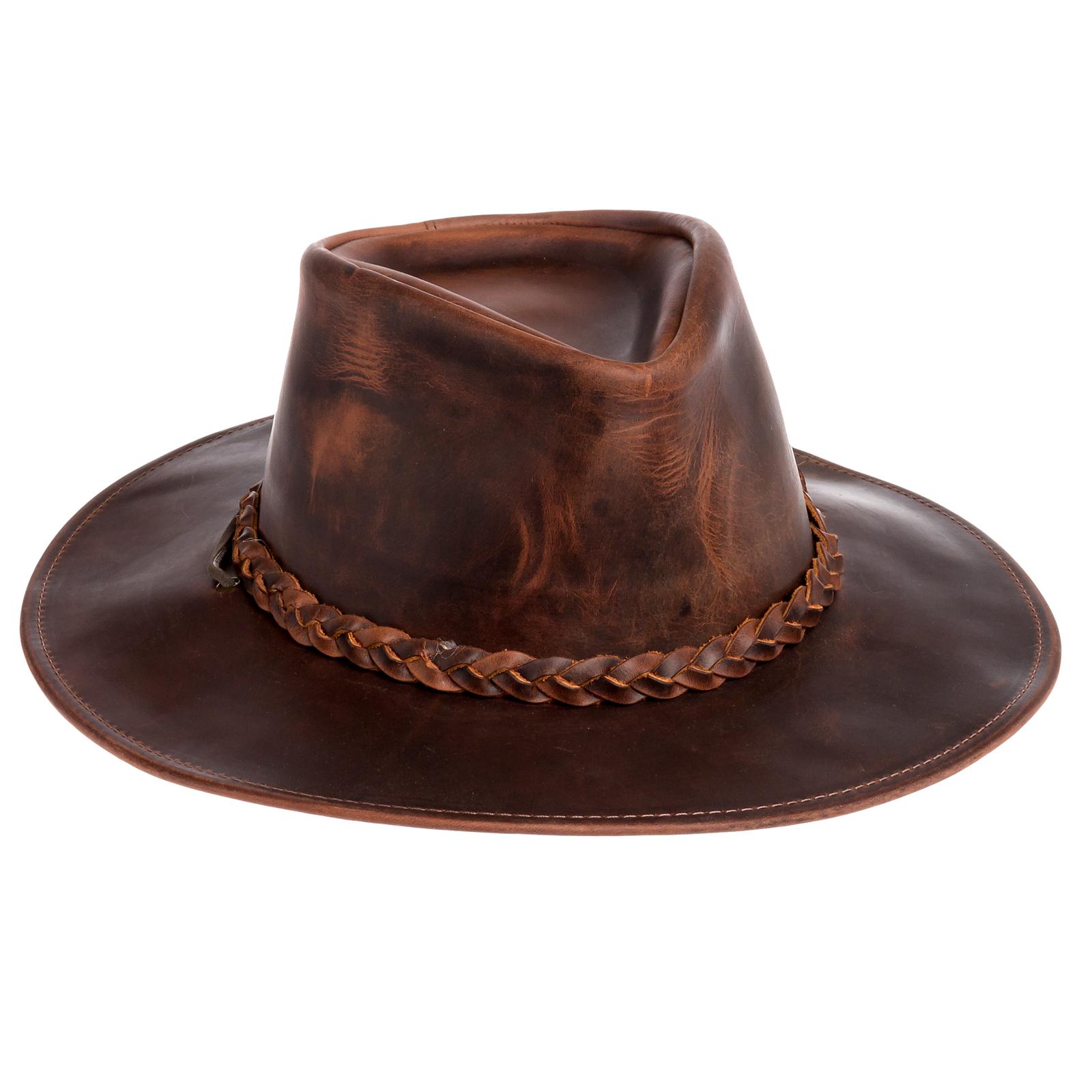 Henschel Mens Brown Genuine Oiled Leather Walker Western