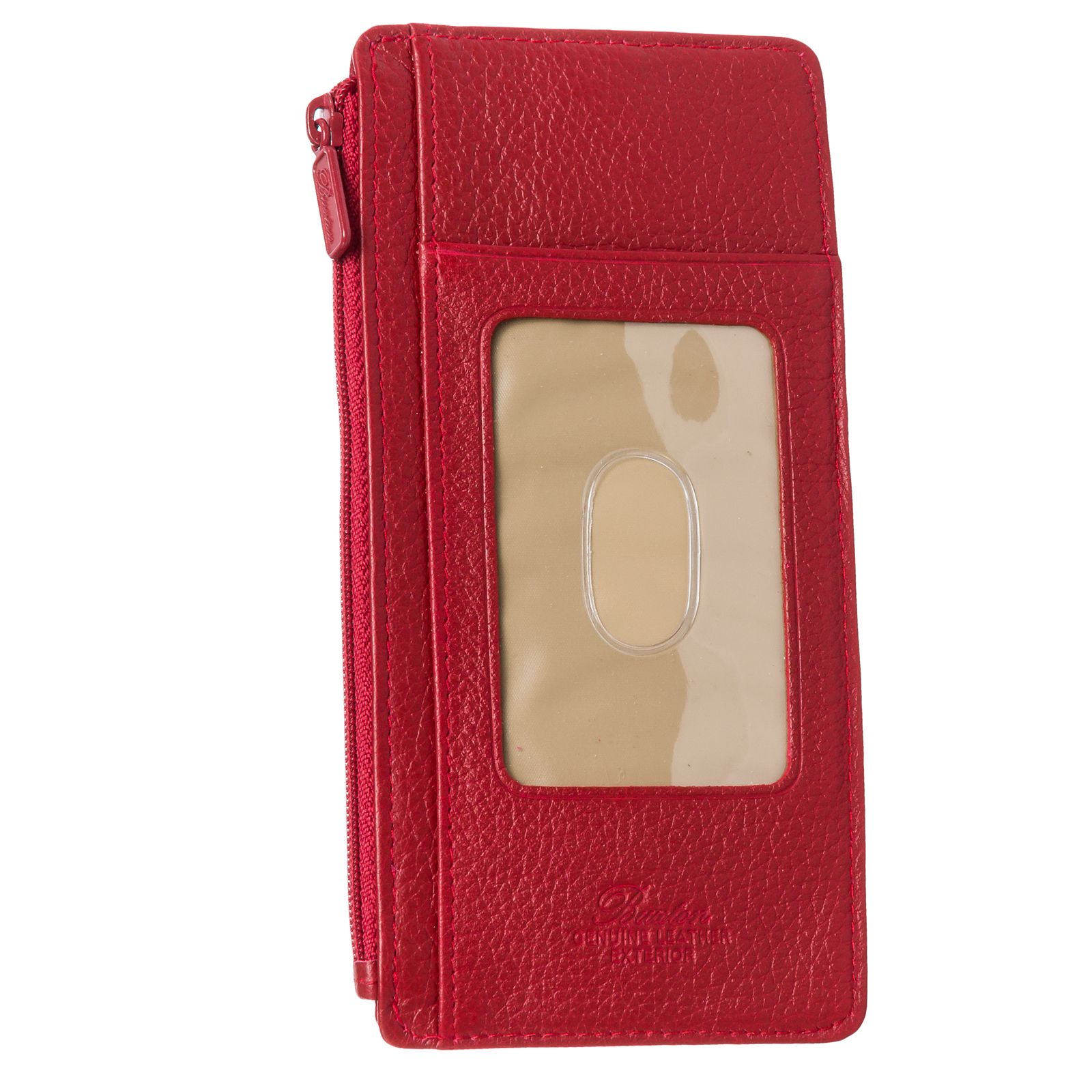 Buxton women genuine leather thin business credit card for Buxton business card case