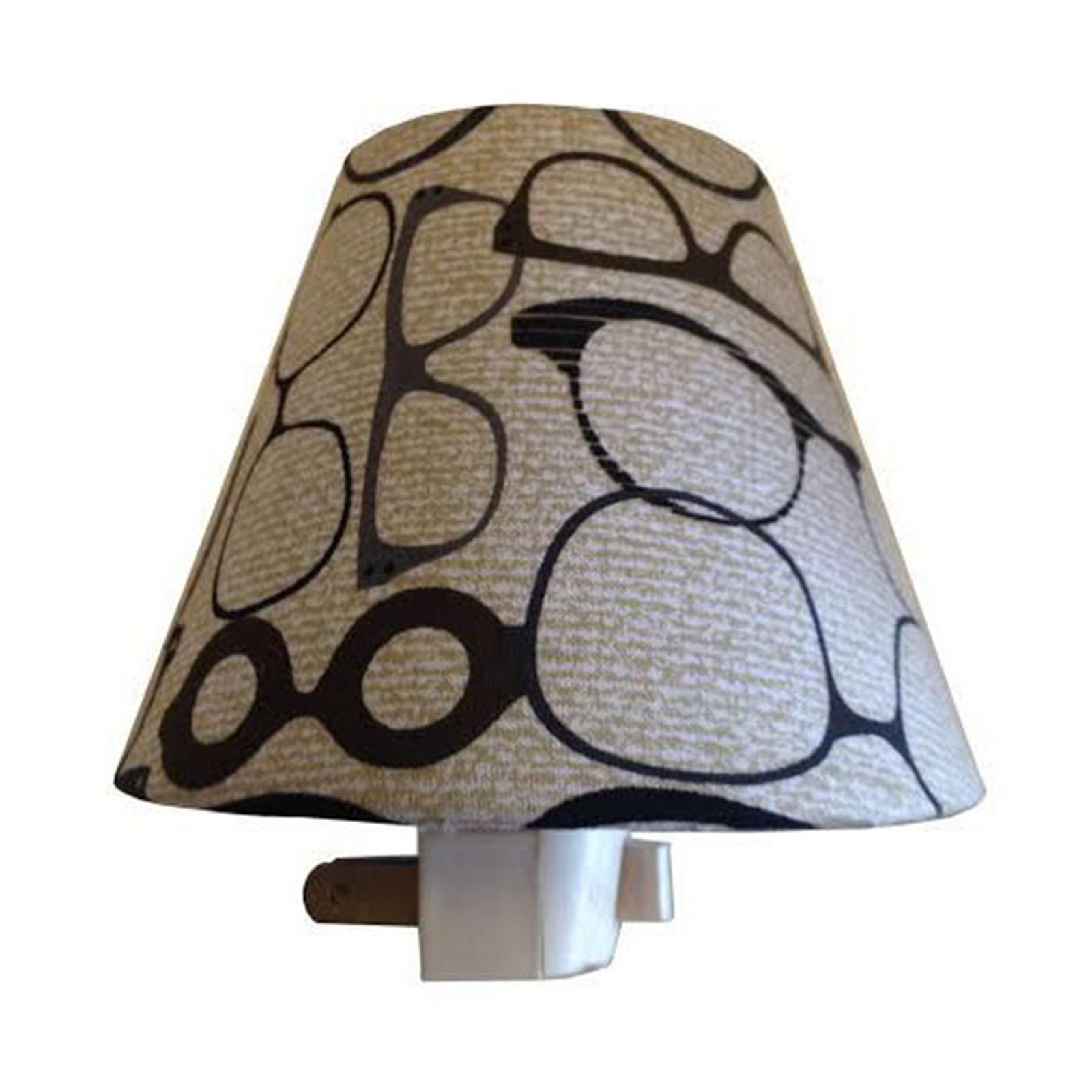RD Shady Linen Eye Half Lamp Shade Night Light W/ Light
