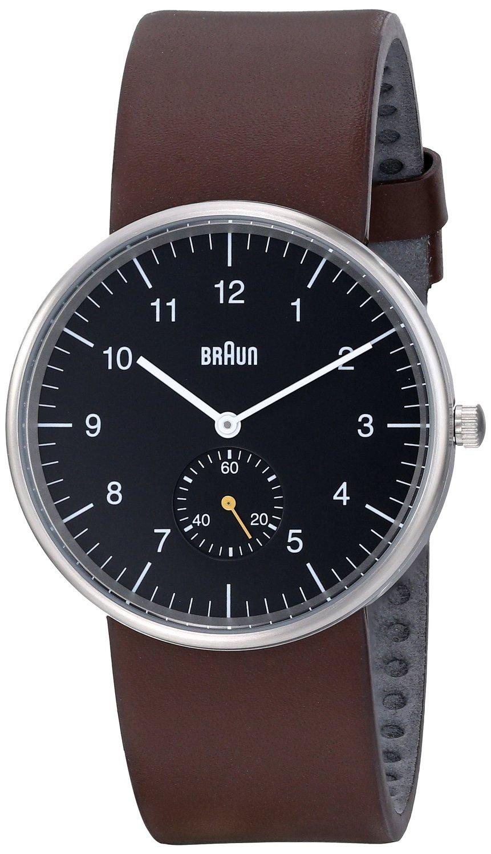 Braun Analog Round Watch Black Leather | WATCH | Watches ...
