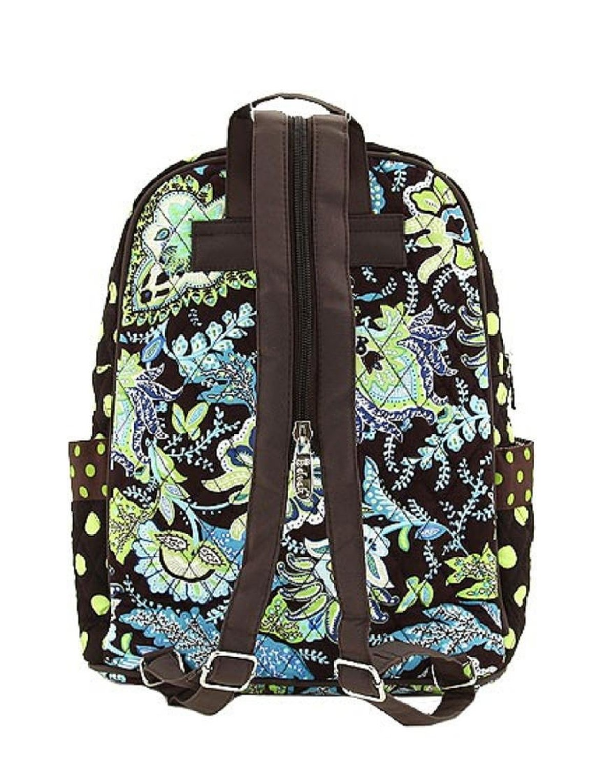 belvah women u0026 39 s paisley quilted floral backpack book bag school class travel