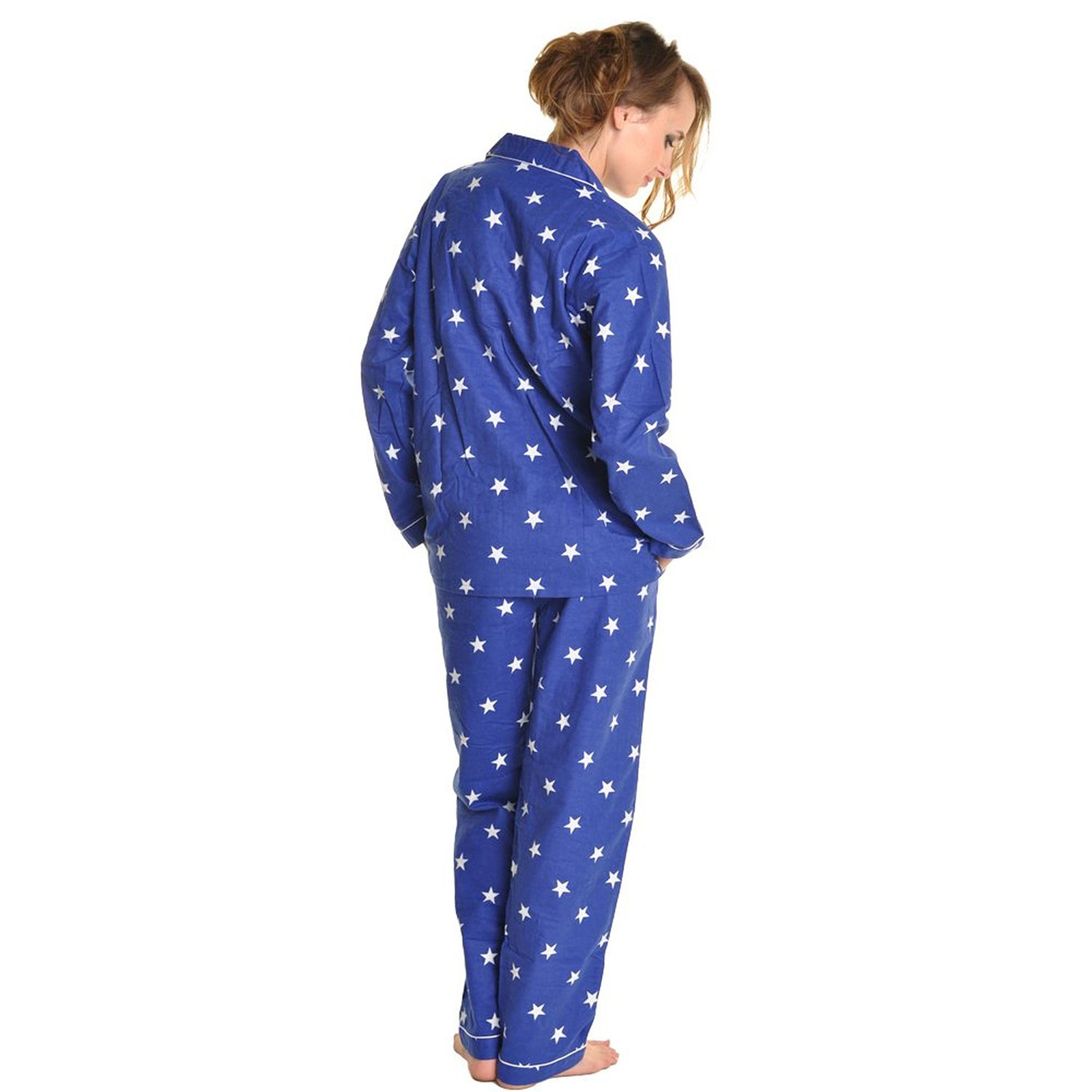 Pajamas are a type of women's sleepwear typically consists of a loose-fitting shirt-and-pant sleepwear set that is worn for sleep and lounge. The pajama pant often features an elastic and/or a drawstring waist, so you can adjust the fit to your comfort.